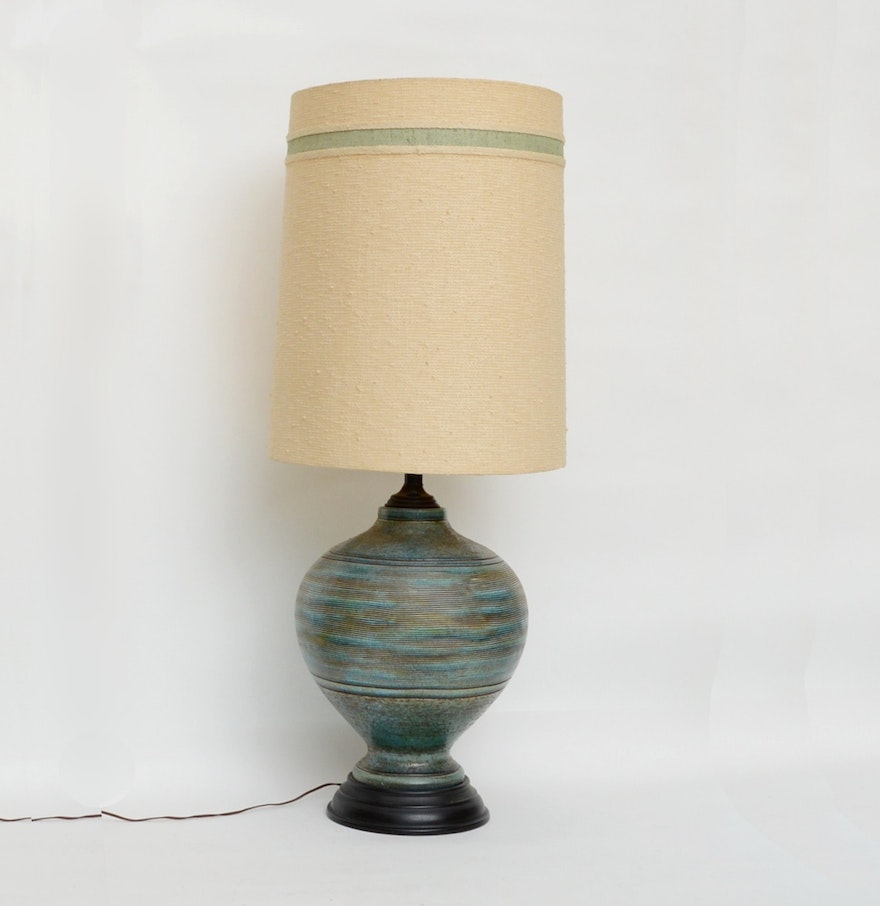 Mid century modern ceramic table lamp ebth mid century modern ceramic table lamp geotapseo Image collections
