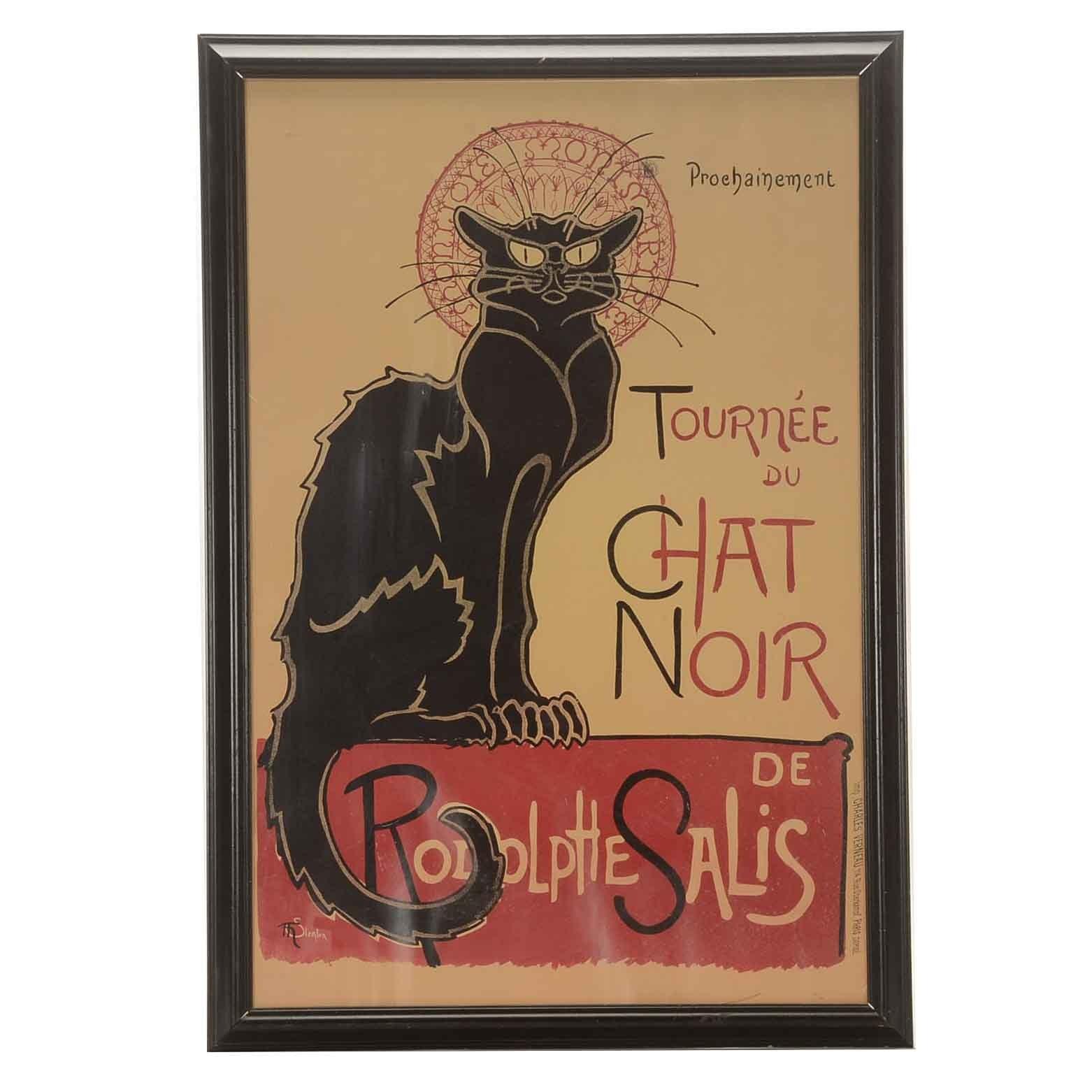 """Offset Lithograph Poster """"Tournée du Chat Noir"""""""