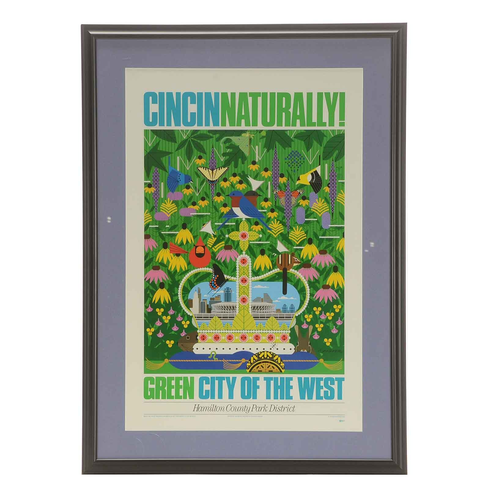 Charley Harper Offset Lithograph Poster for Hamilton County Parks