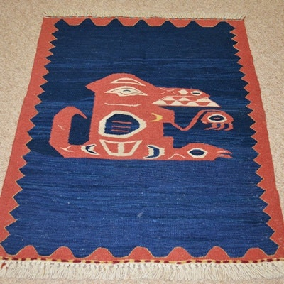 Pacific Northwest Design Woven Wool Area Rug
