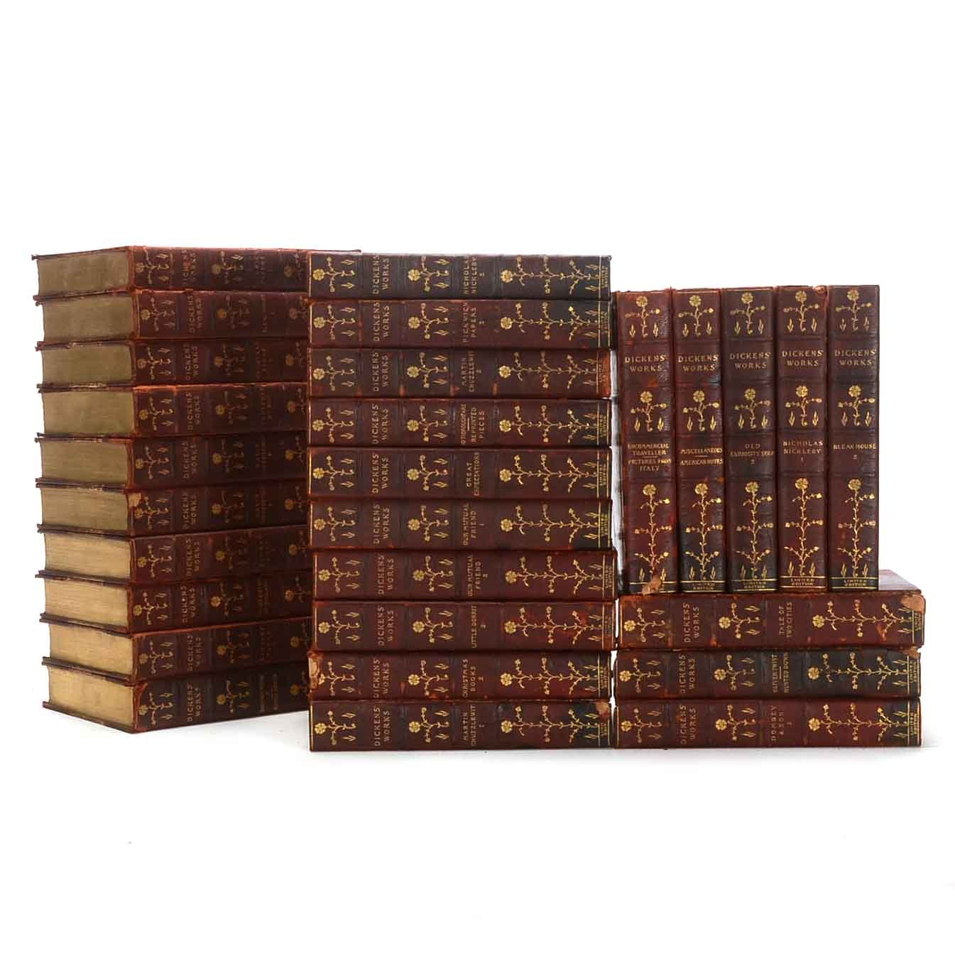 1899 Works of Charles Dickens Twenty-Eight Volume Set