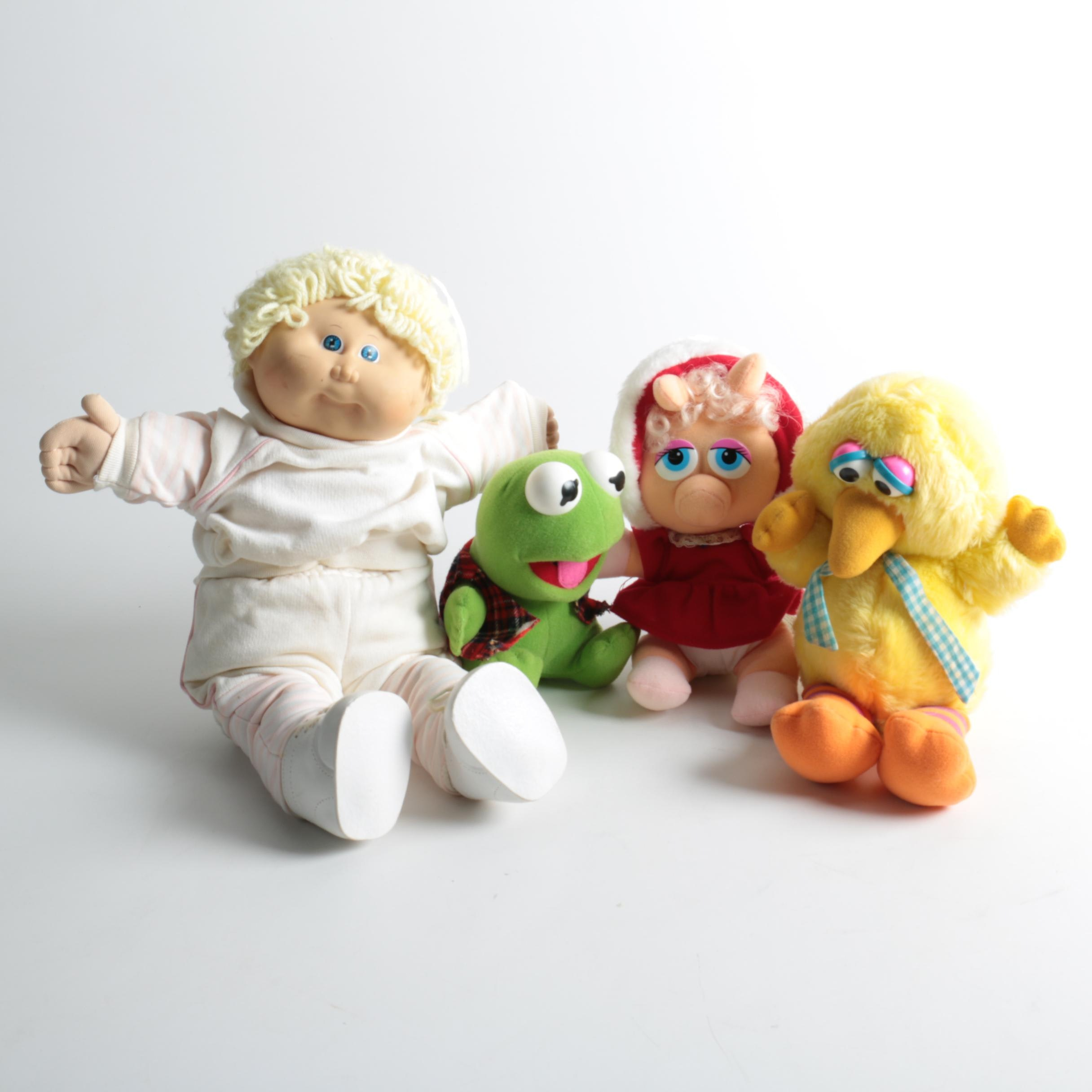 Vintage Cabbage Patch Kid, Muppets, and Sesame Street Dolls