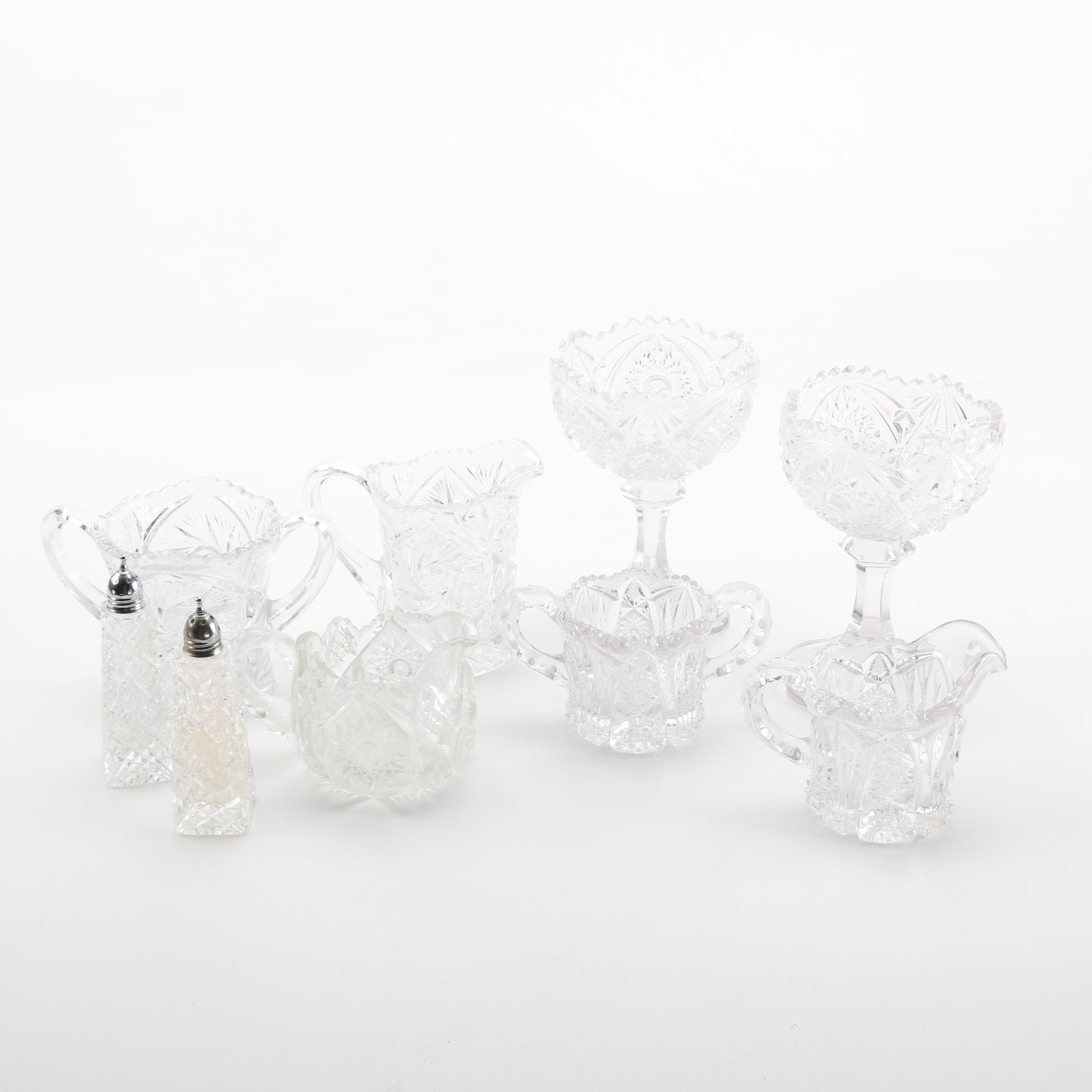 Pressed Glass and Crystal Tableware