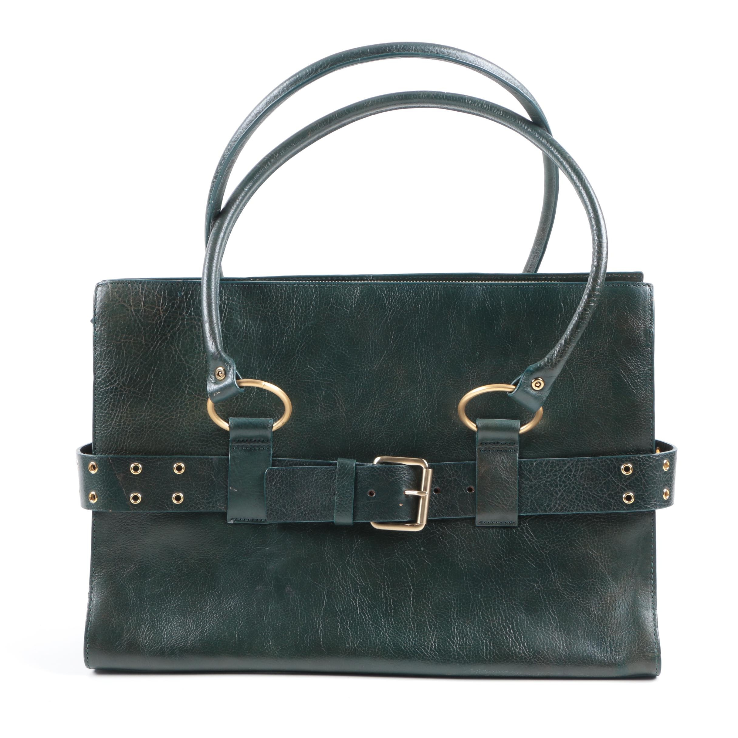 Wilsons Leather Tote Handbag and Zippered Pouch