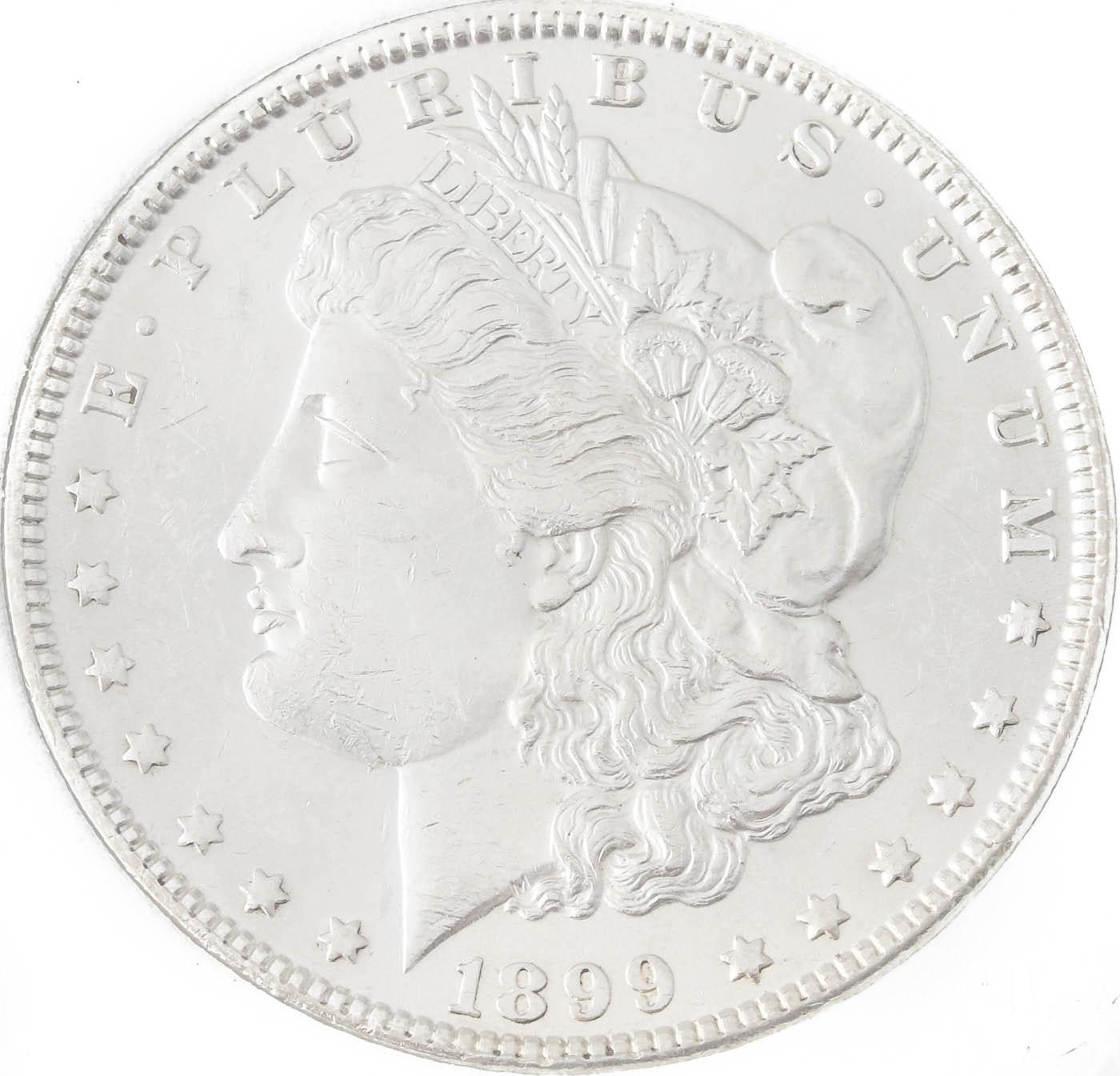 Low Mintage 1899 Silver Morgan Dollar