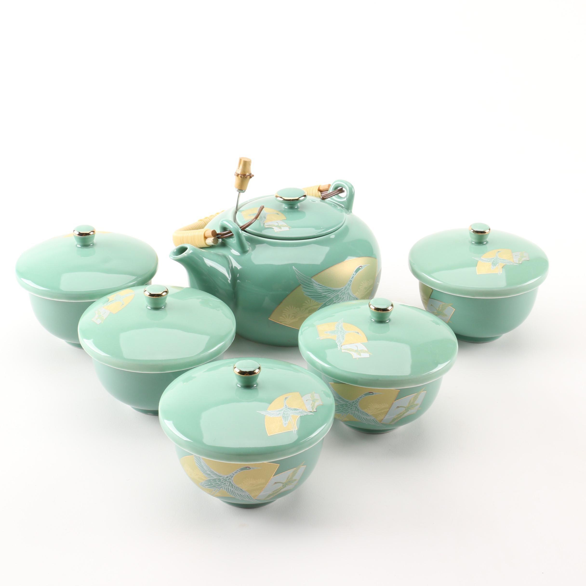 Celadon Chinese Porcelain Tea Set