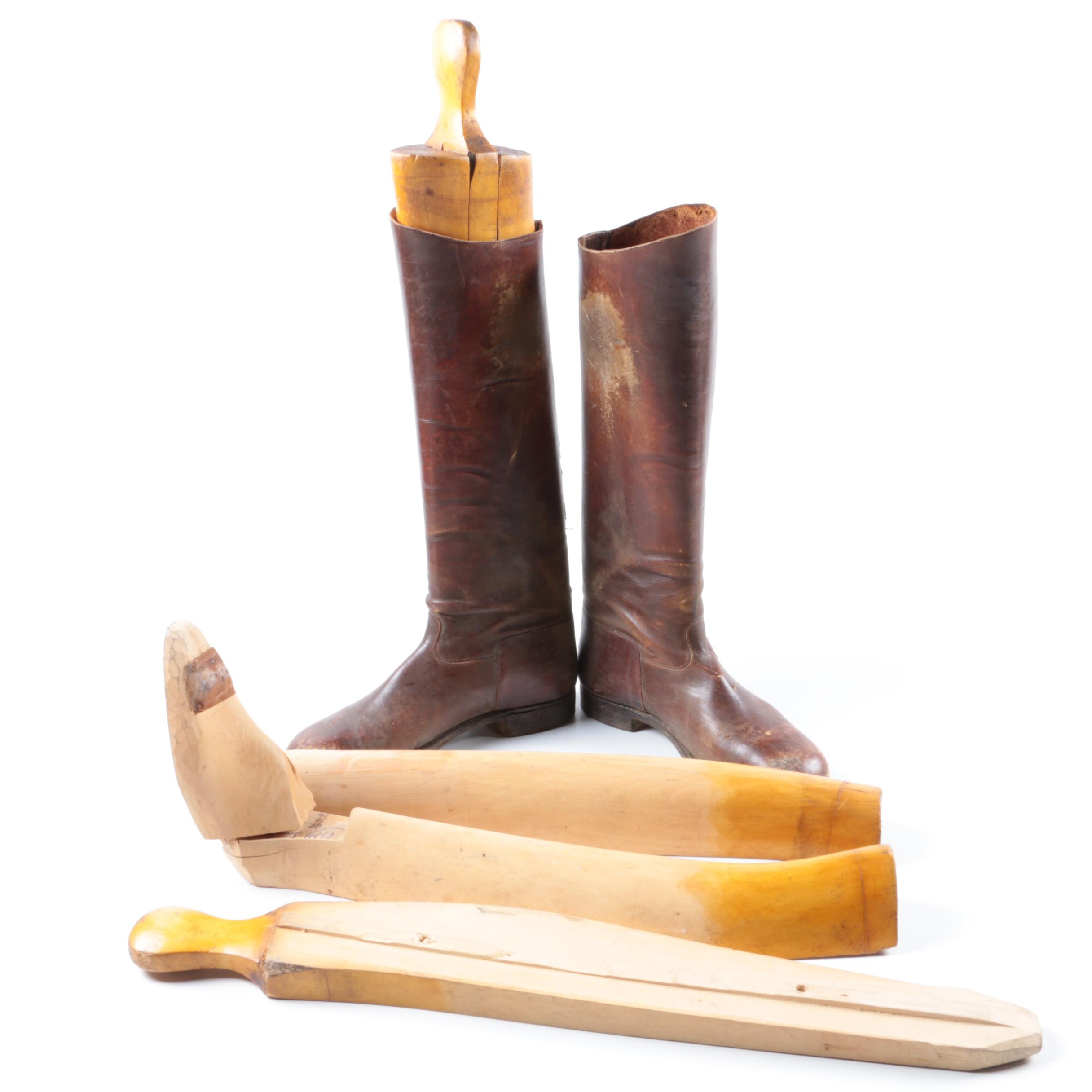 Vintage Riding Boots with Stretchers