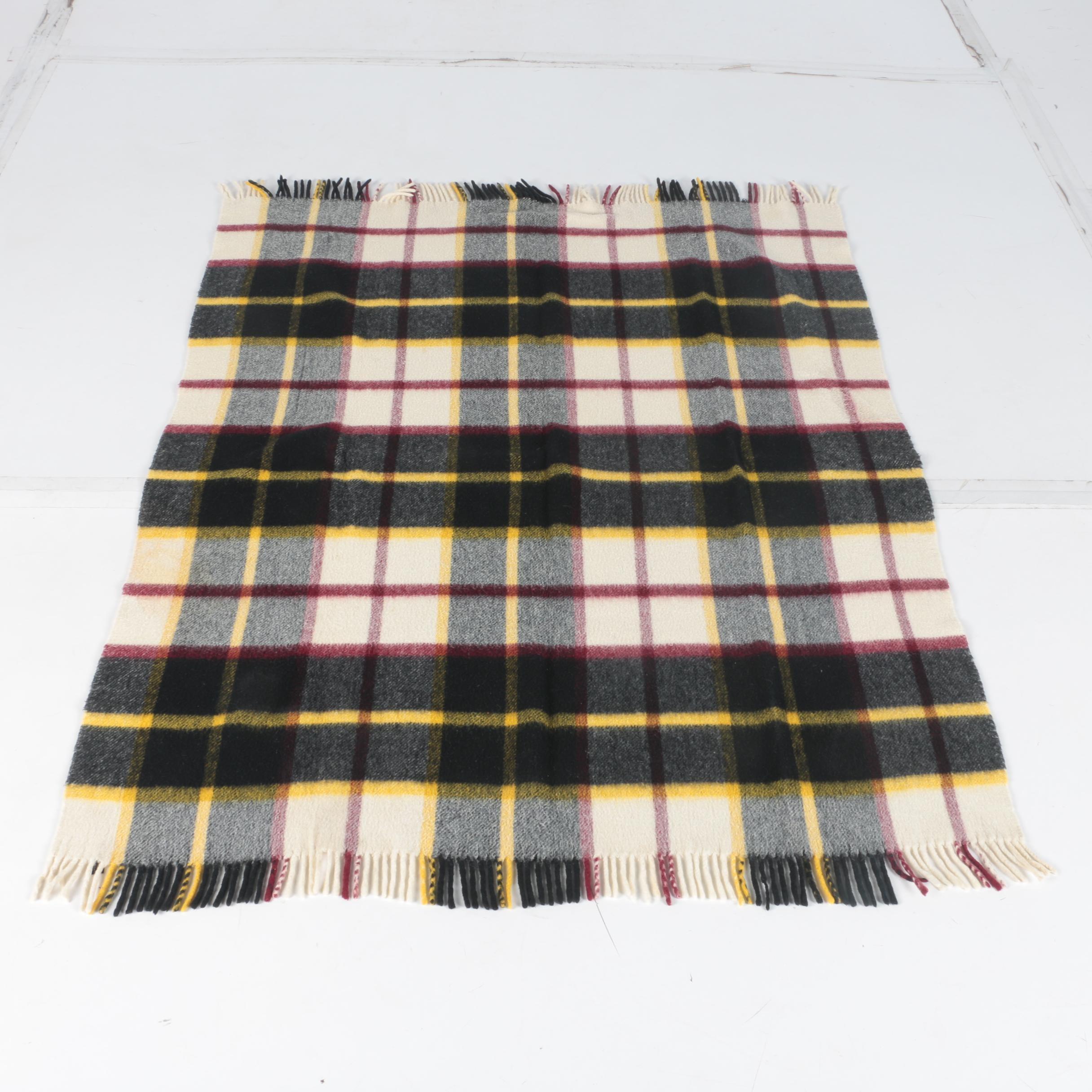 Italian Wool Clan Macpherson Tartan  Blanket