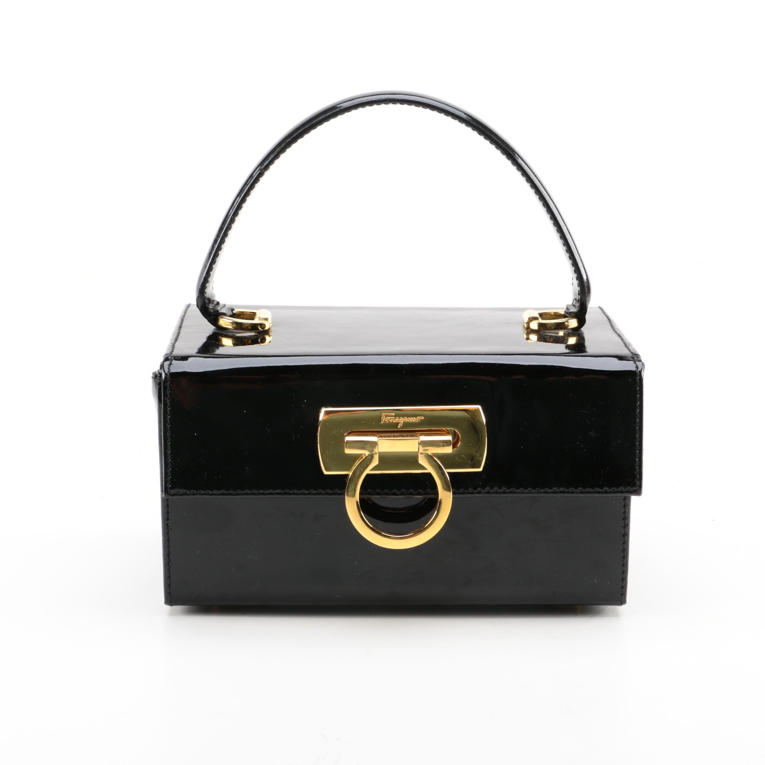 Salvatore Ferragamo Patent Leather Box Bag