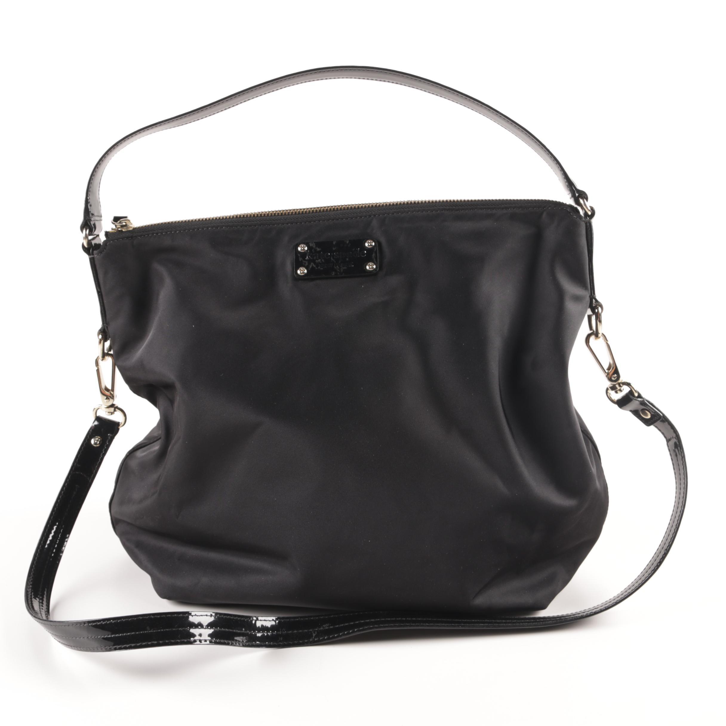 Kate Spade Mini Maria Black Nylon and Patent Leather Handbag