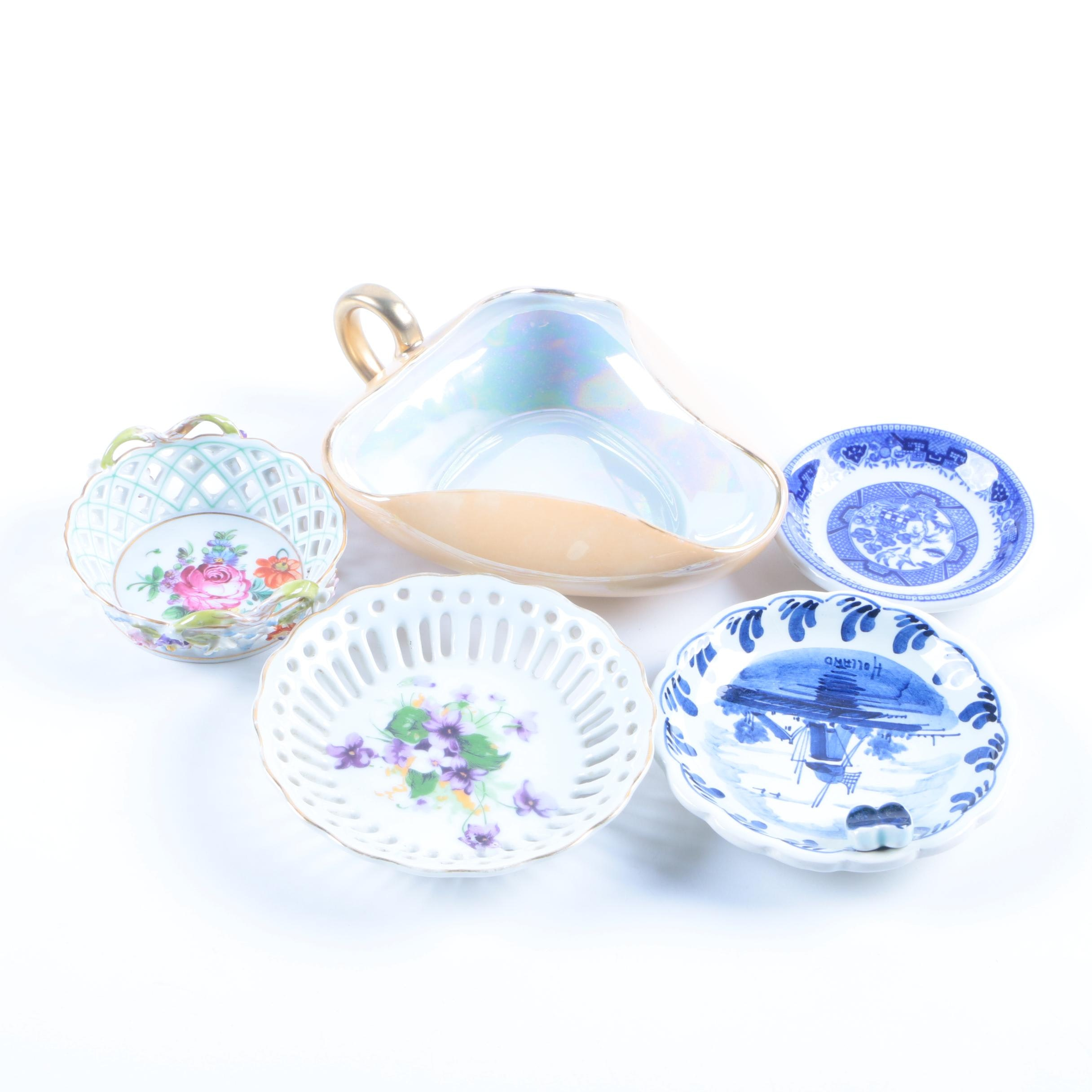Delft, Dresden and Other Porcelain Tableware