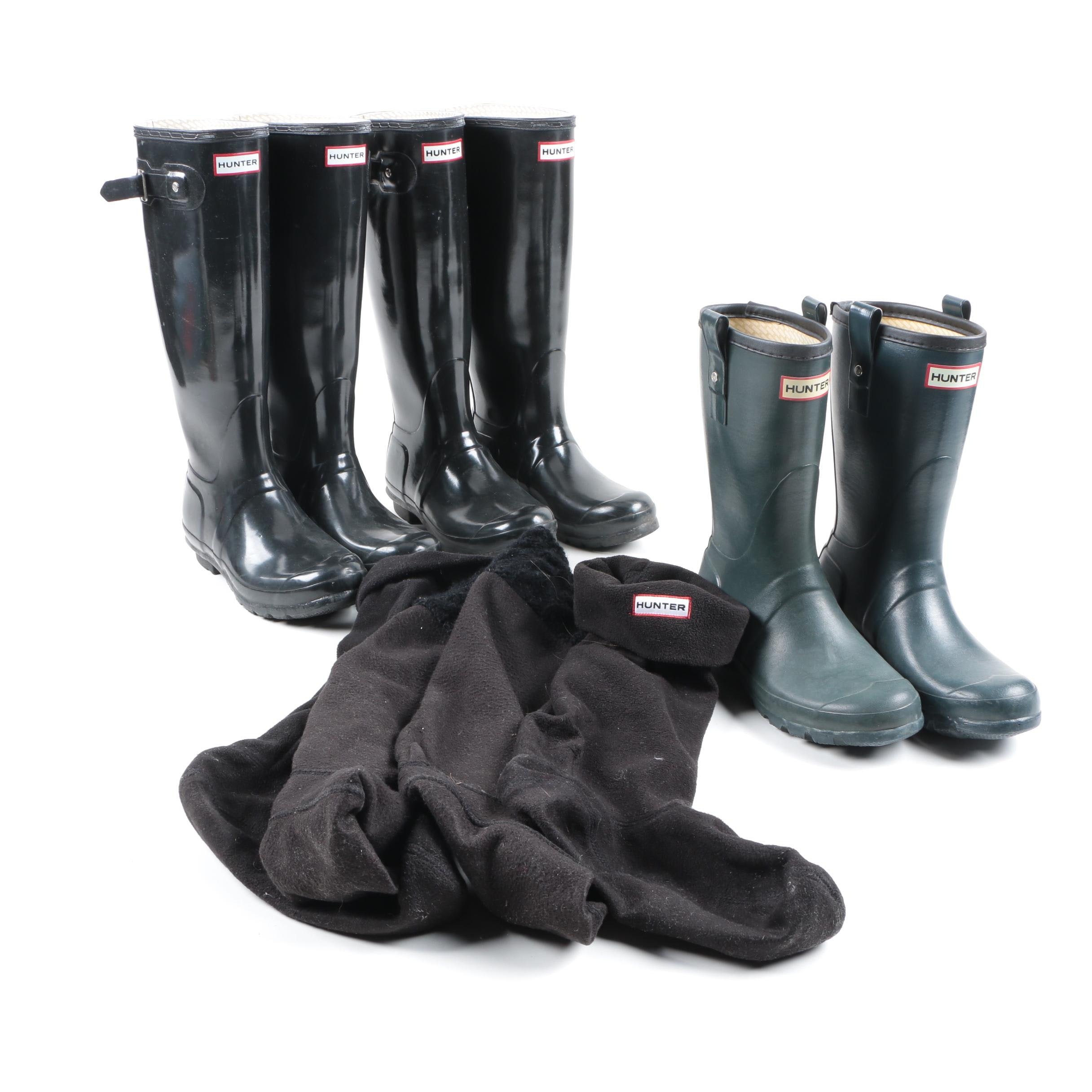 Women's Hunter Rain Boot's and Boot Socks