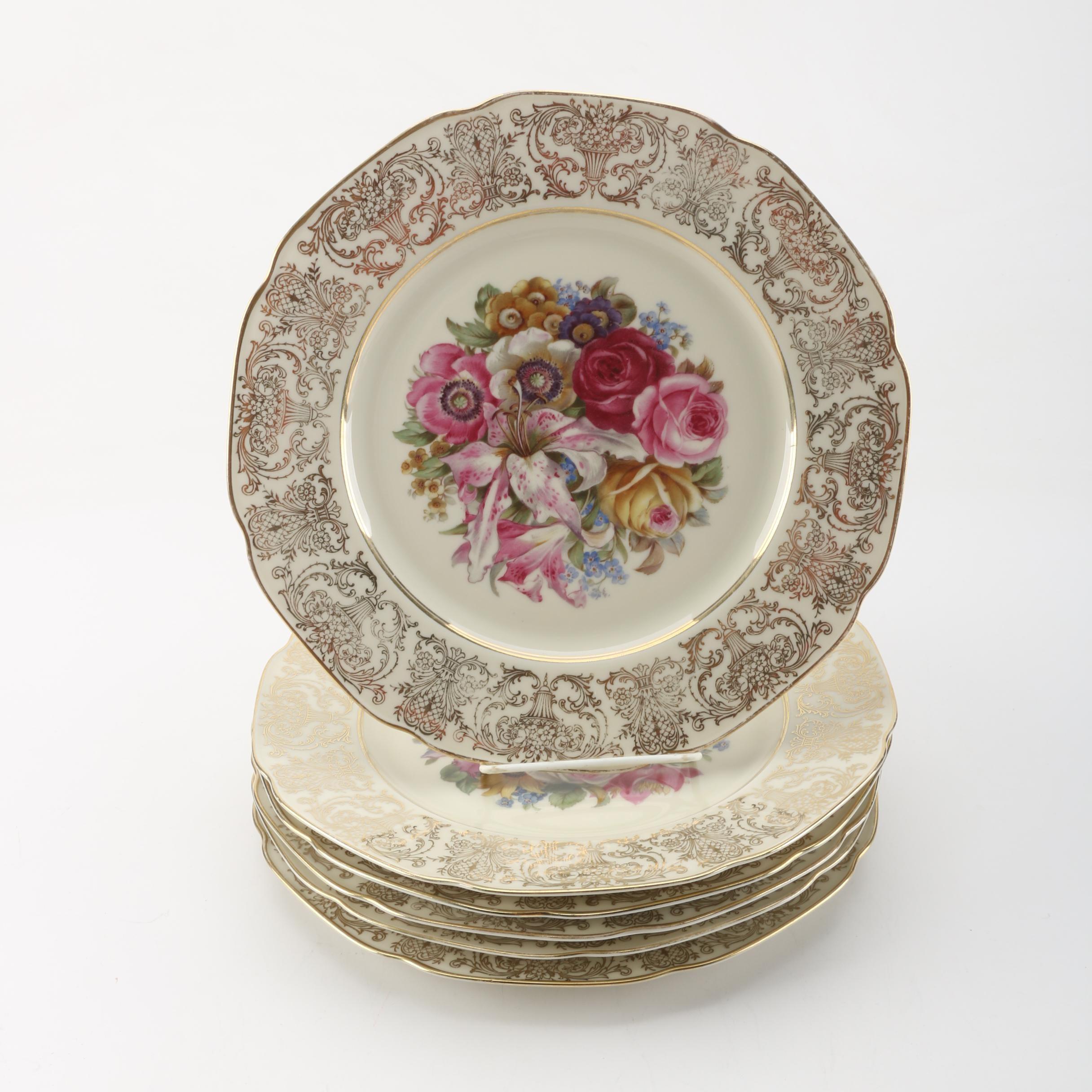 Bavarian Porcelain Dinner Plates