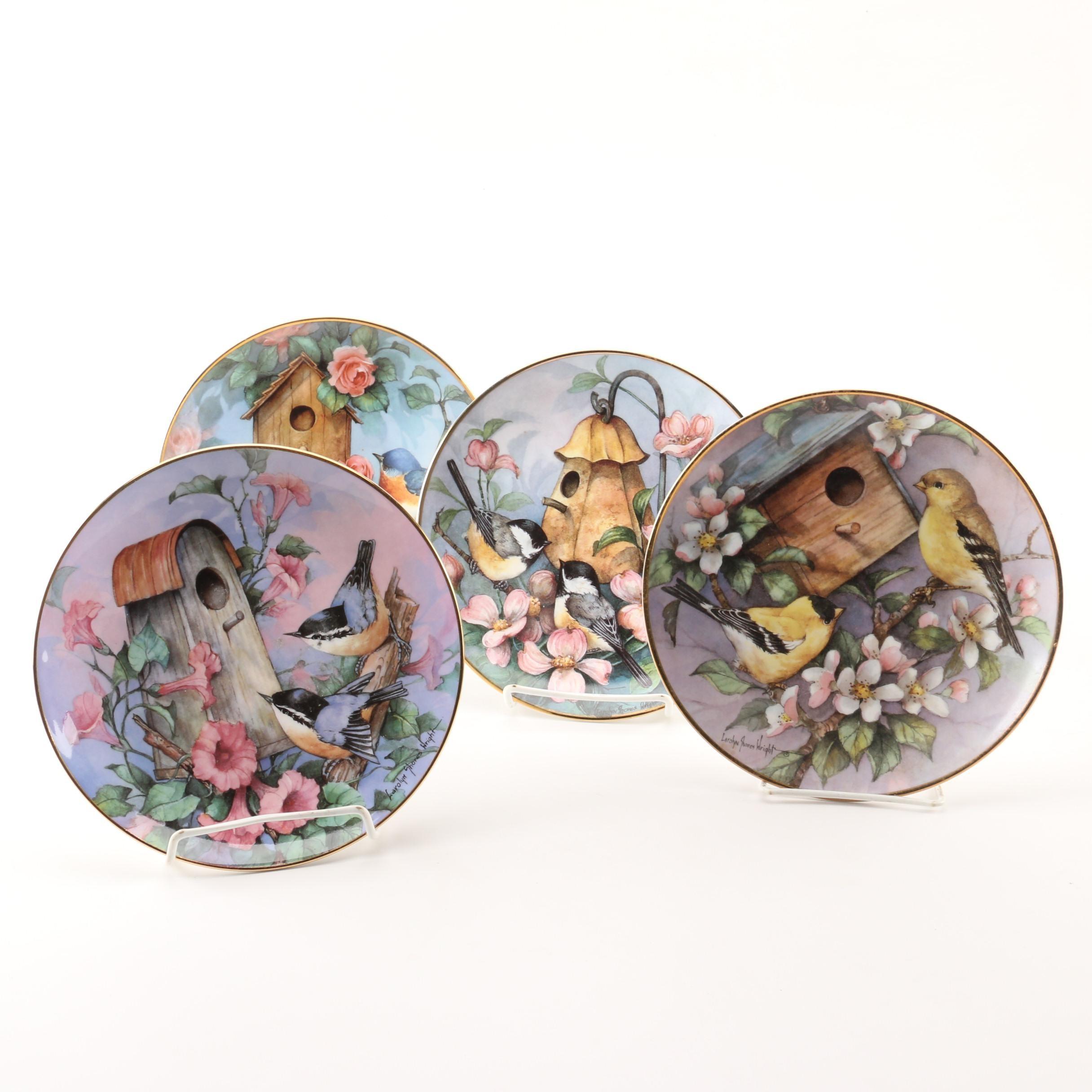 Franklin Mint Royal Doulton Larolyn Shores Wright Birdhouse Collector Plates
