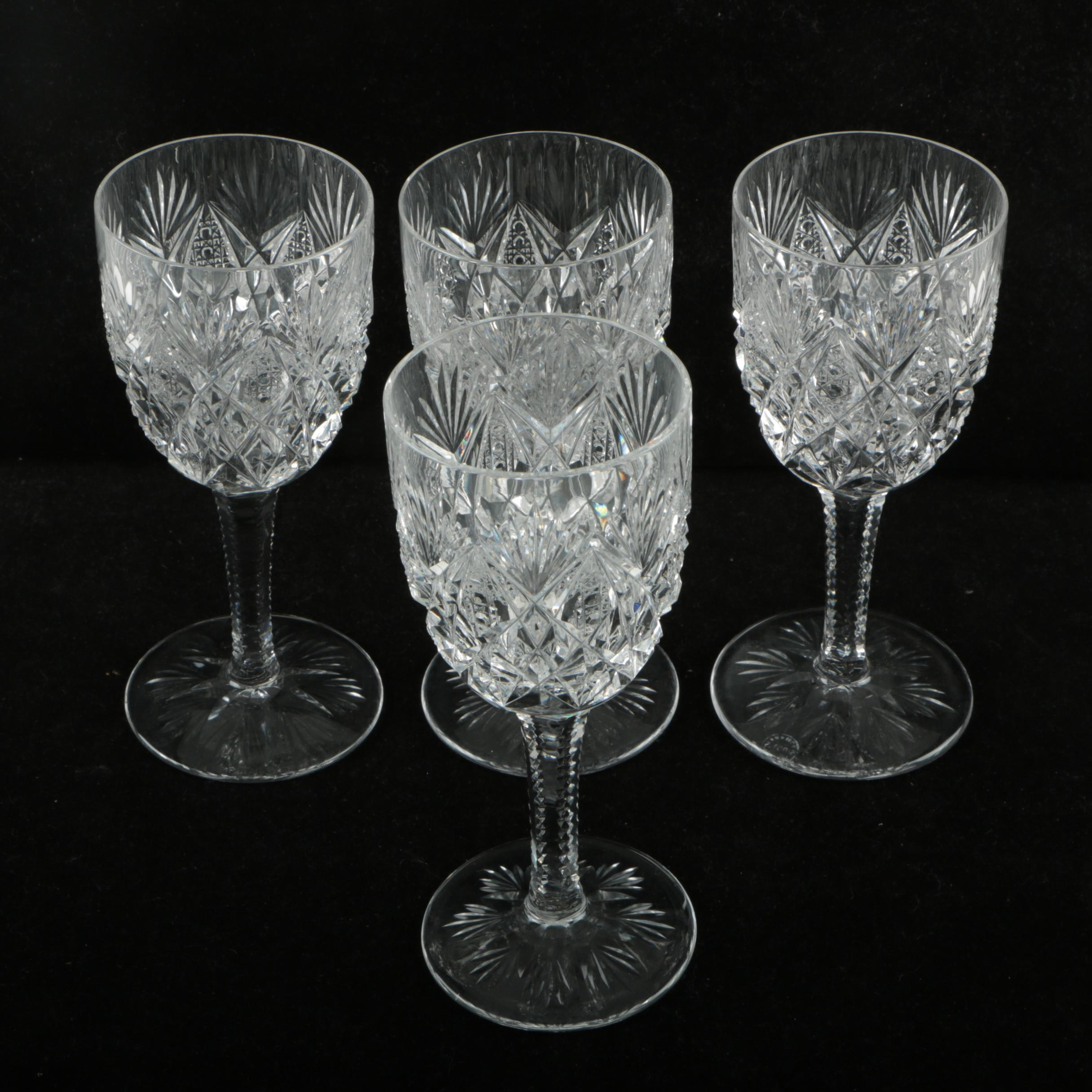 "St. Louis Crystal ""Florence"" Burgundy Wine Glassware"