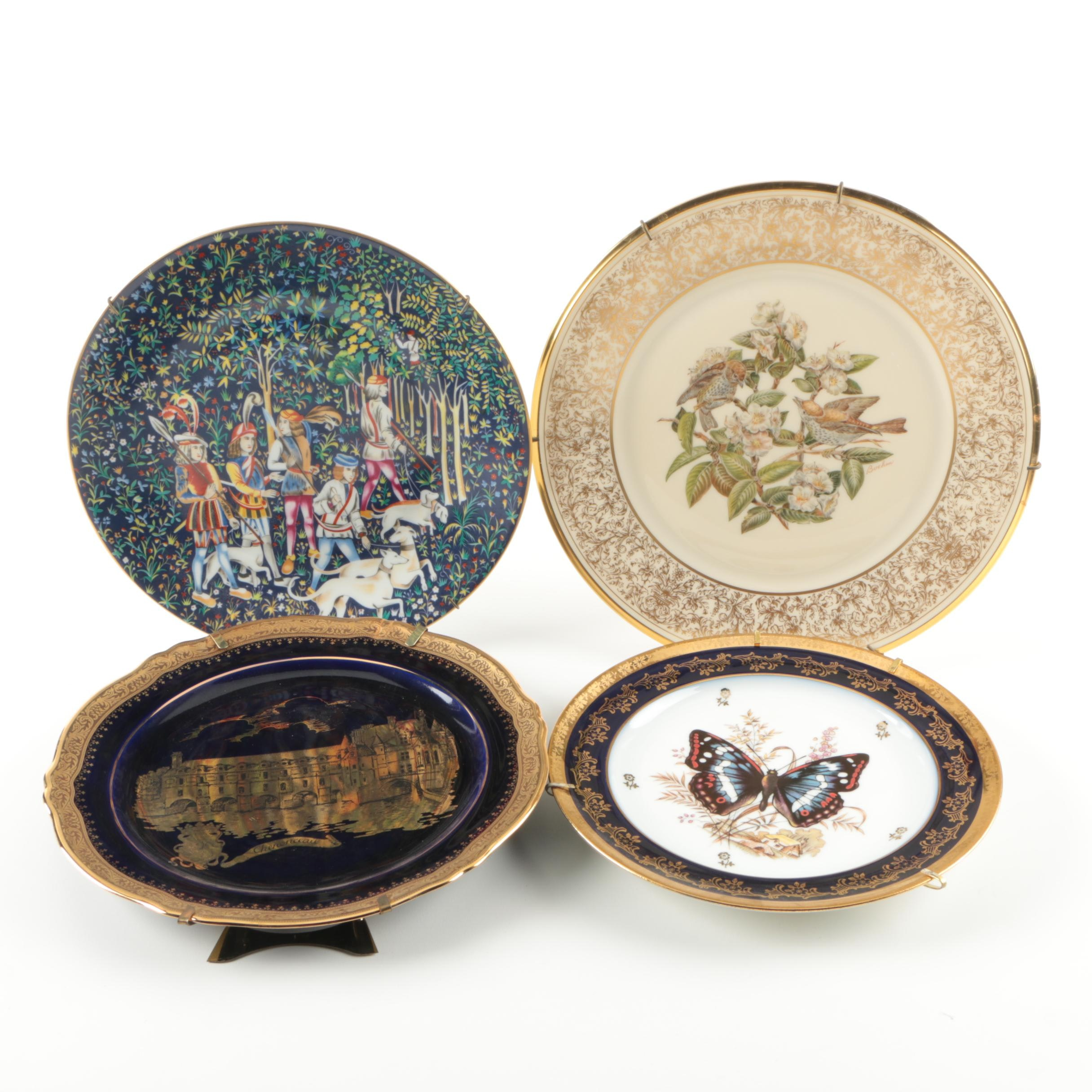"Decorative Plates Including Haviland ""La Chasse a' la Licorne"" and Lenox"