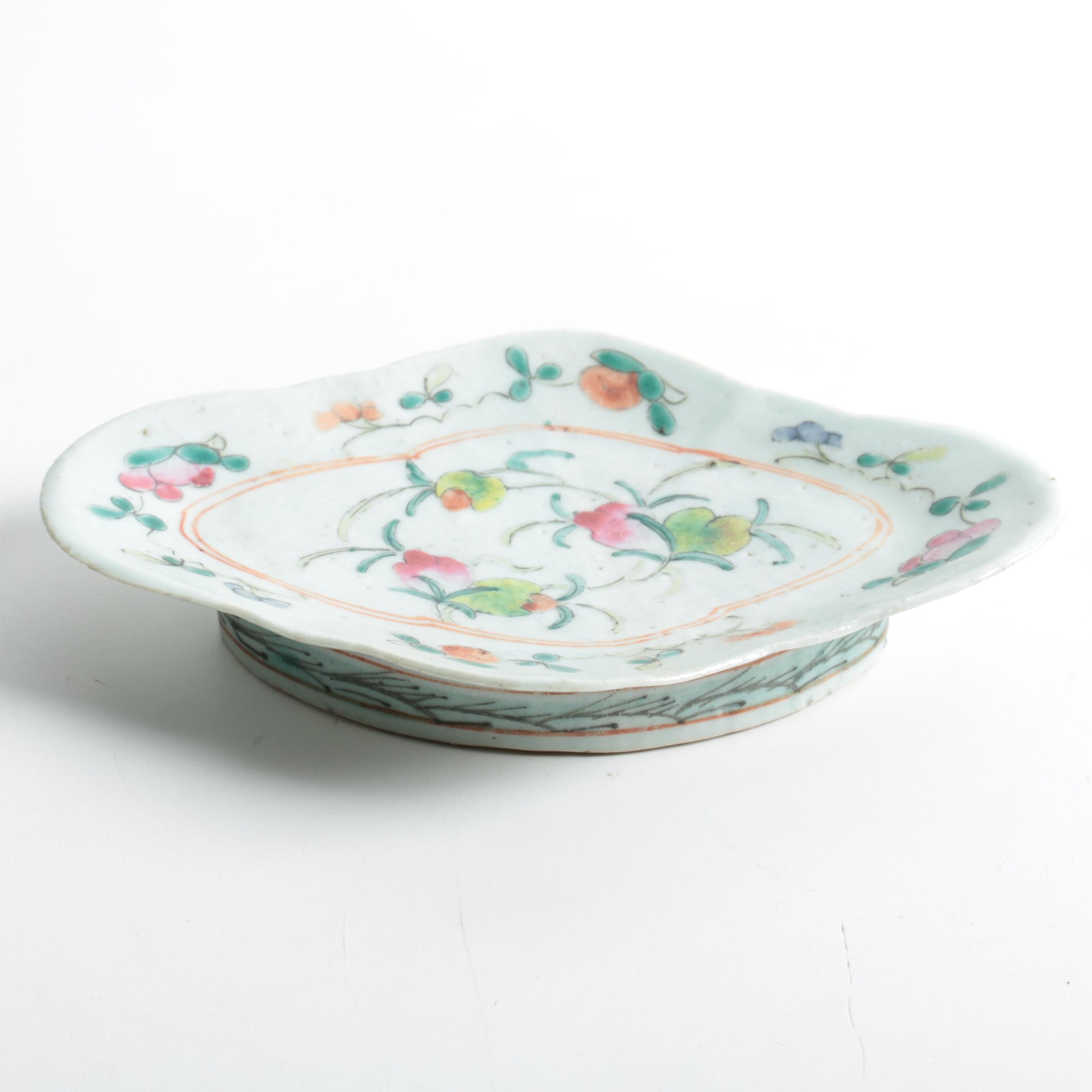 Circa 1900 Chinese Hand Painted Porcelain Dish