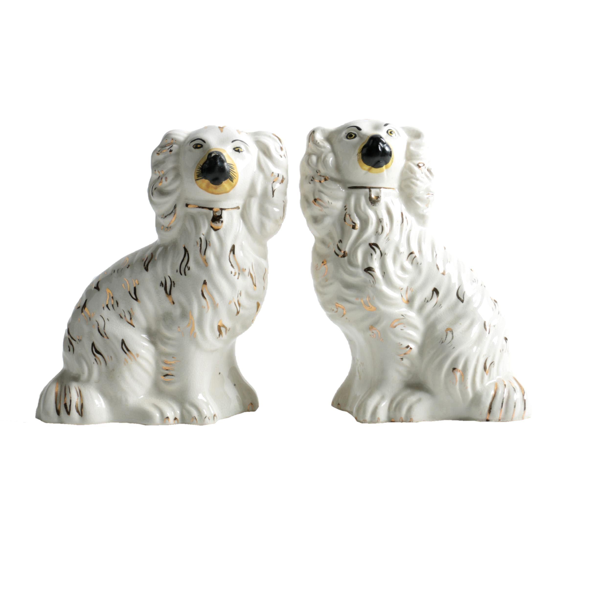 Staffordshire Ceramic Dog Figurines