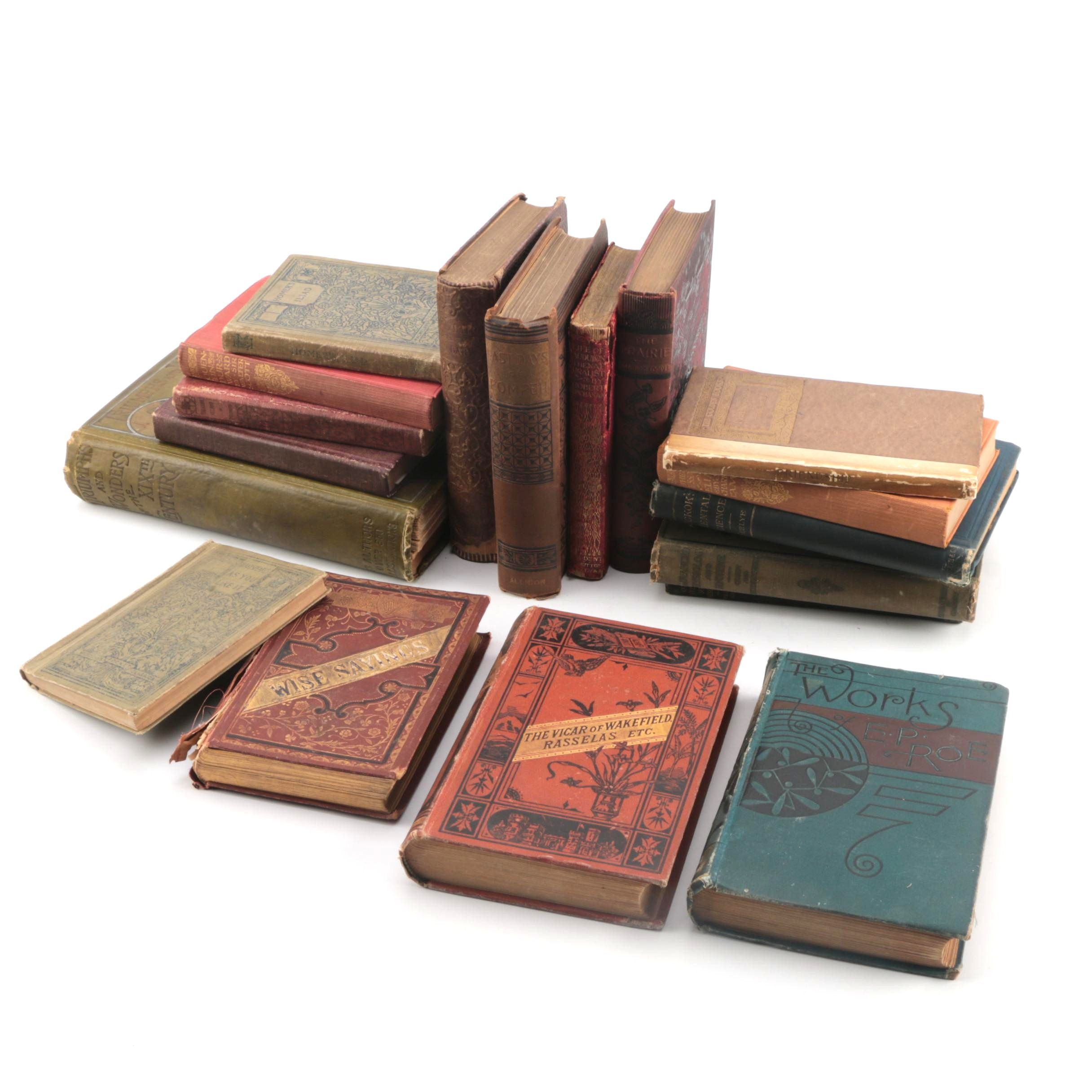 """Assorted Antique and Vintage Hardcover Books featuring """"Robinson Crusoe"""""""