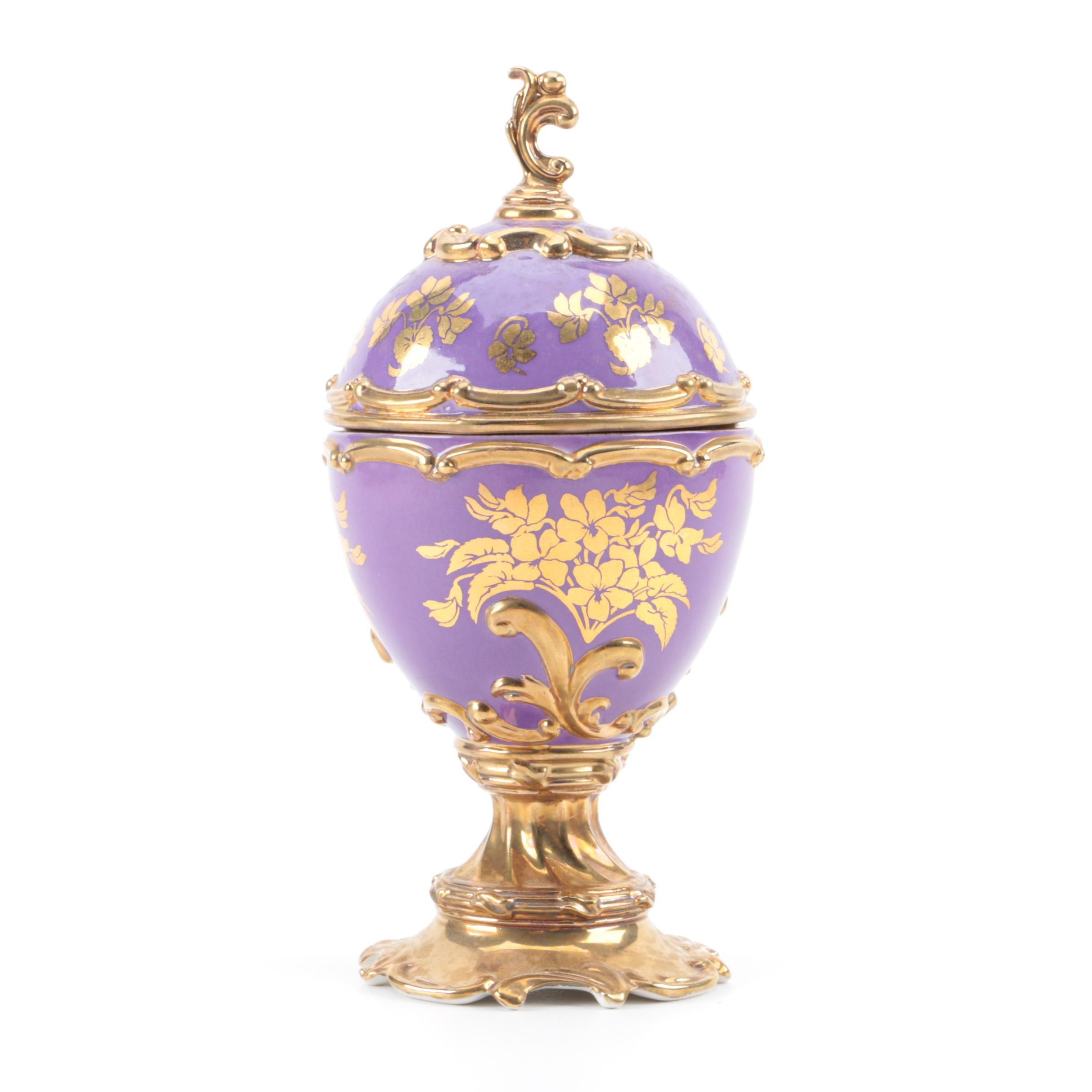"""House of Faberge """"Violet"""" Musical Egg"""