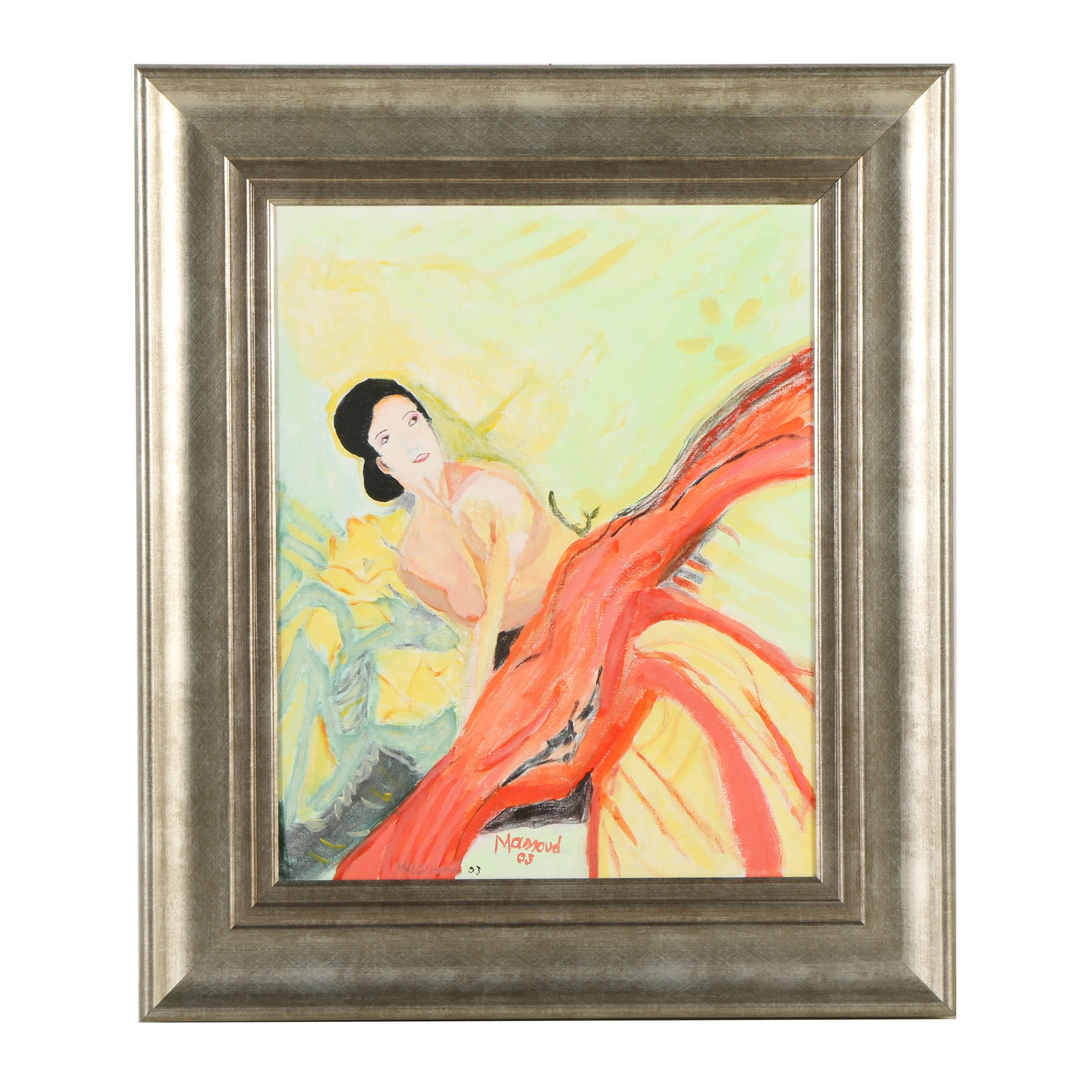 Mamoud Oil Painting on Canvas of a Female Nude