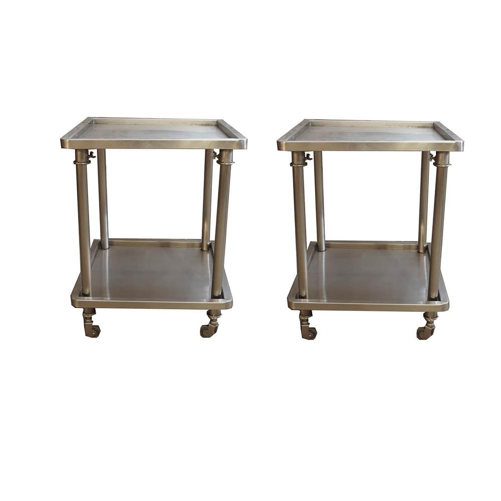 Industrial-Look Cart Side Tables