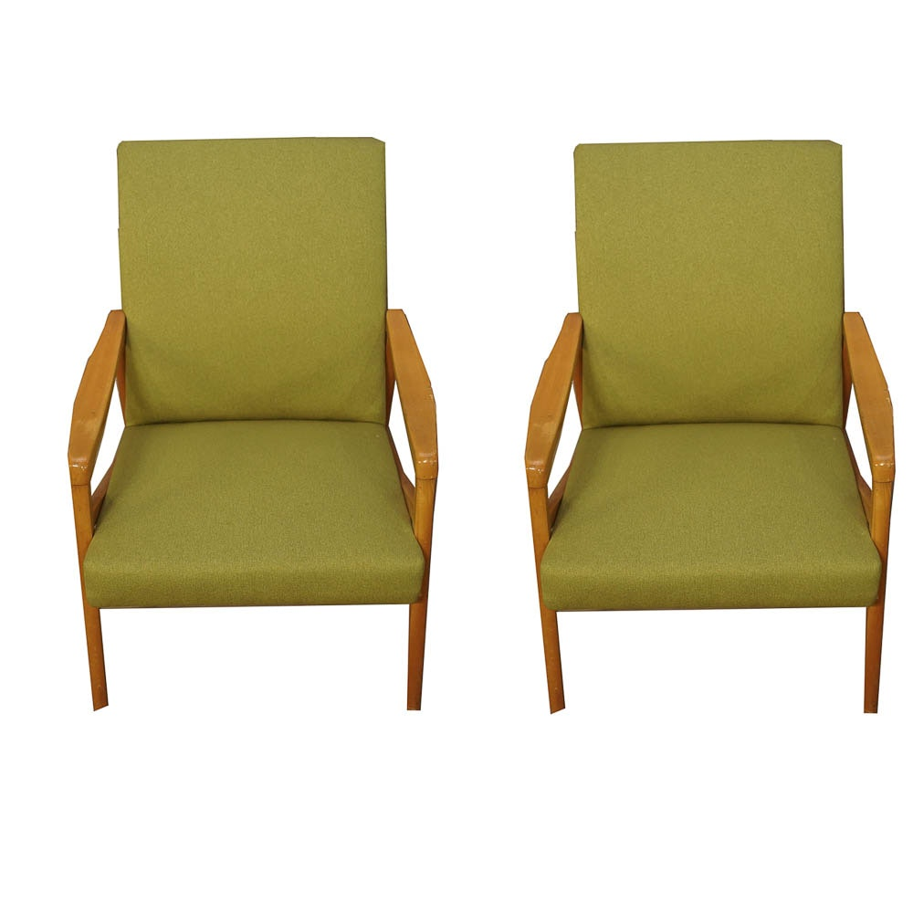 Danish Modern Style Armchairs