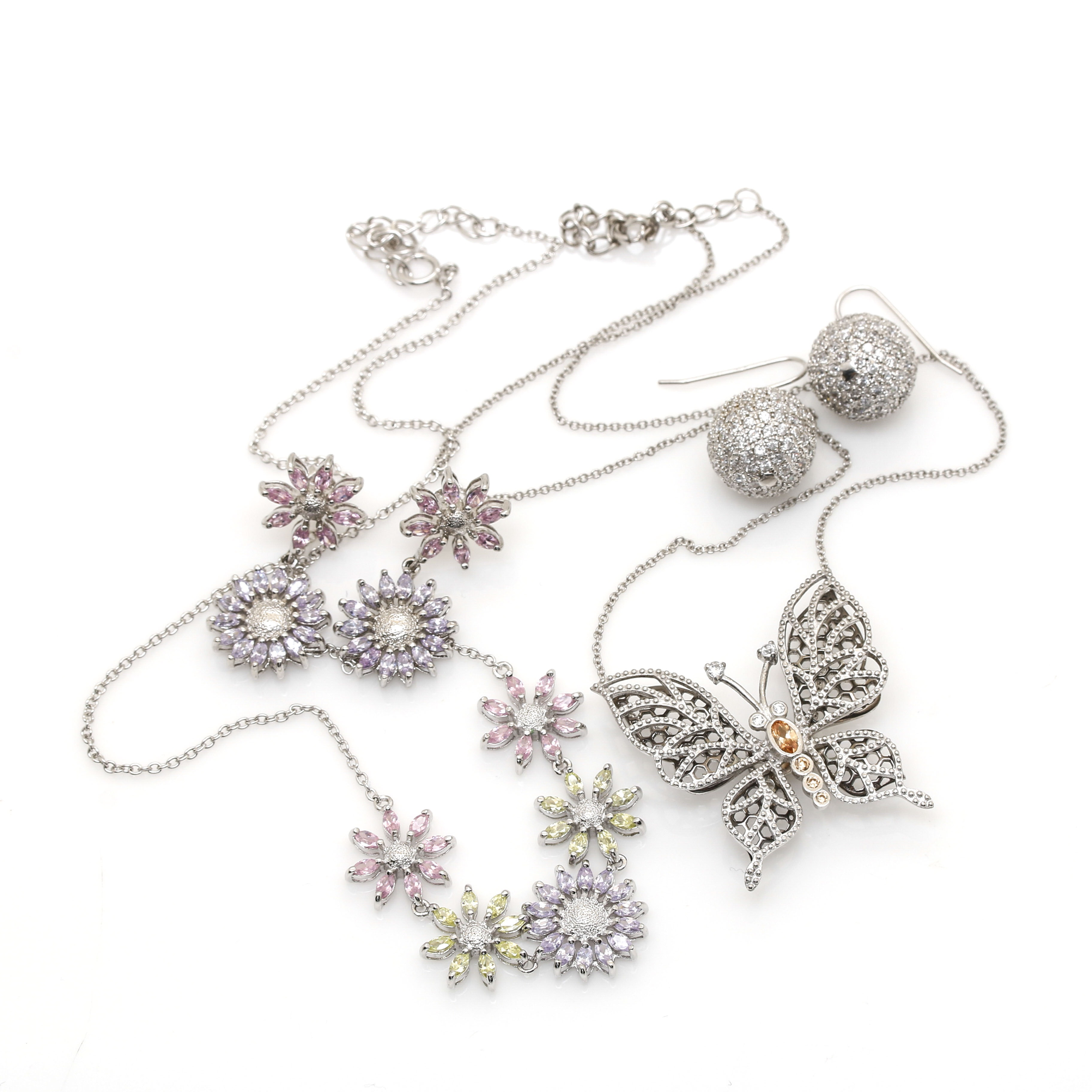 Selection of Sterling Silver and Cubic Zirconia Jewelry