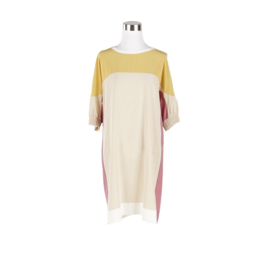 2d4bcb9d2751 Miu Miu Silk Color Block Sheer Dress   EBTH