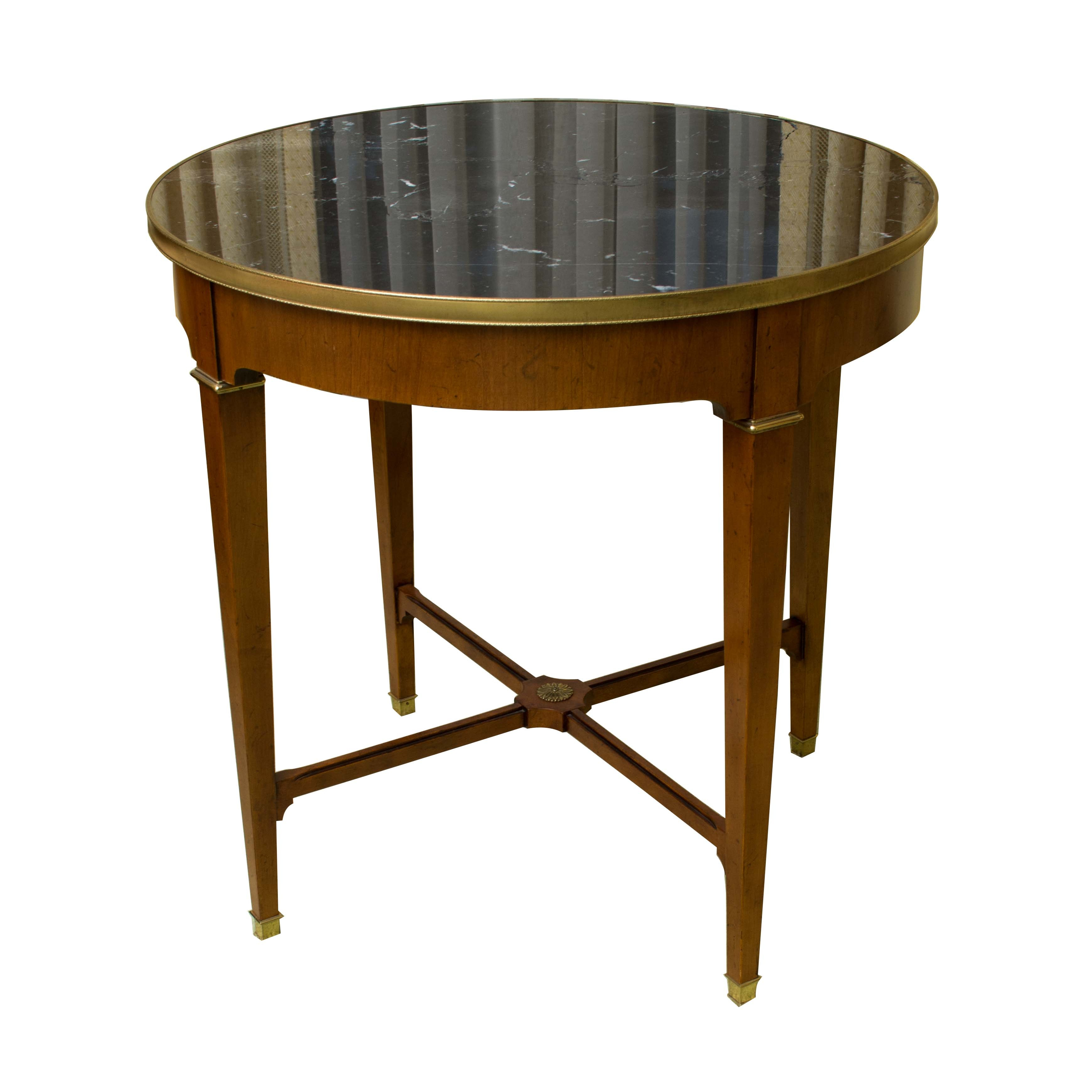 Directoire Style Marble Table by Baker Furniture