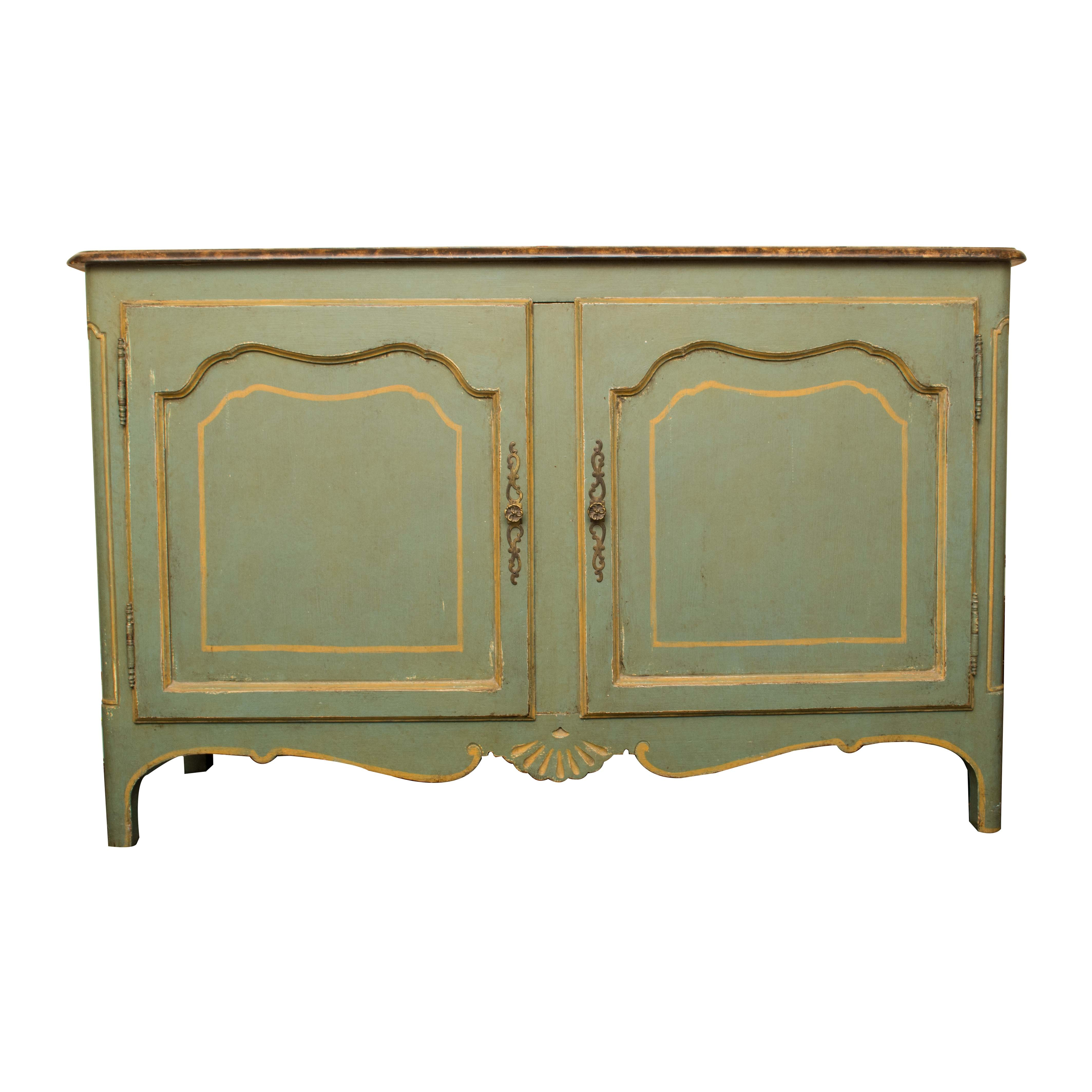 French Provincial Style Buffet with Stone Top