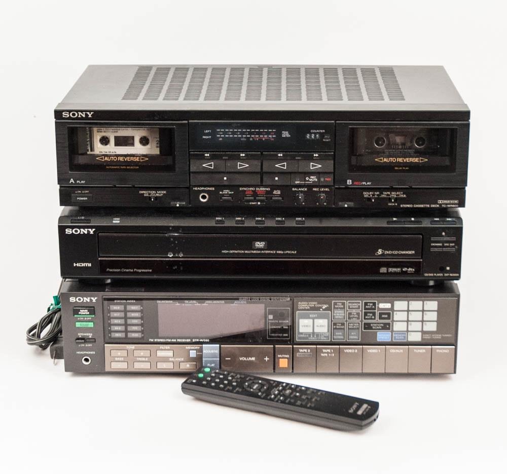 Sony CD/DVD Changer, Cassette Deck and Tuner