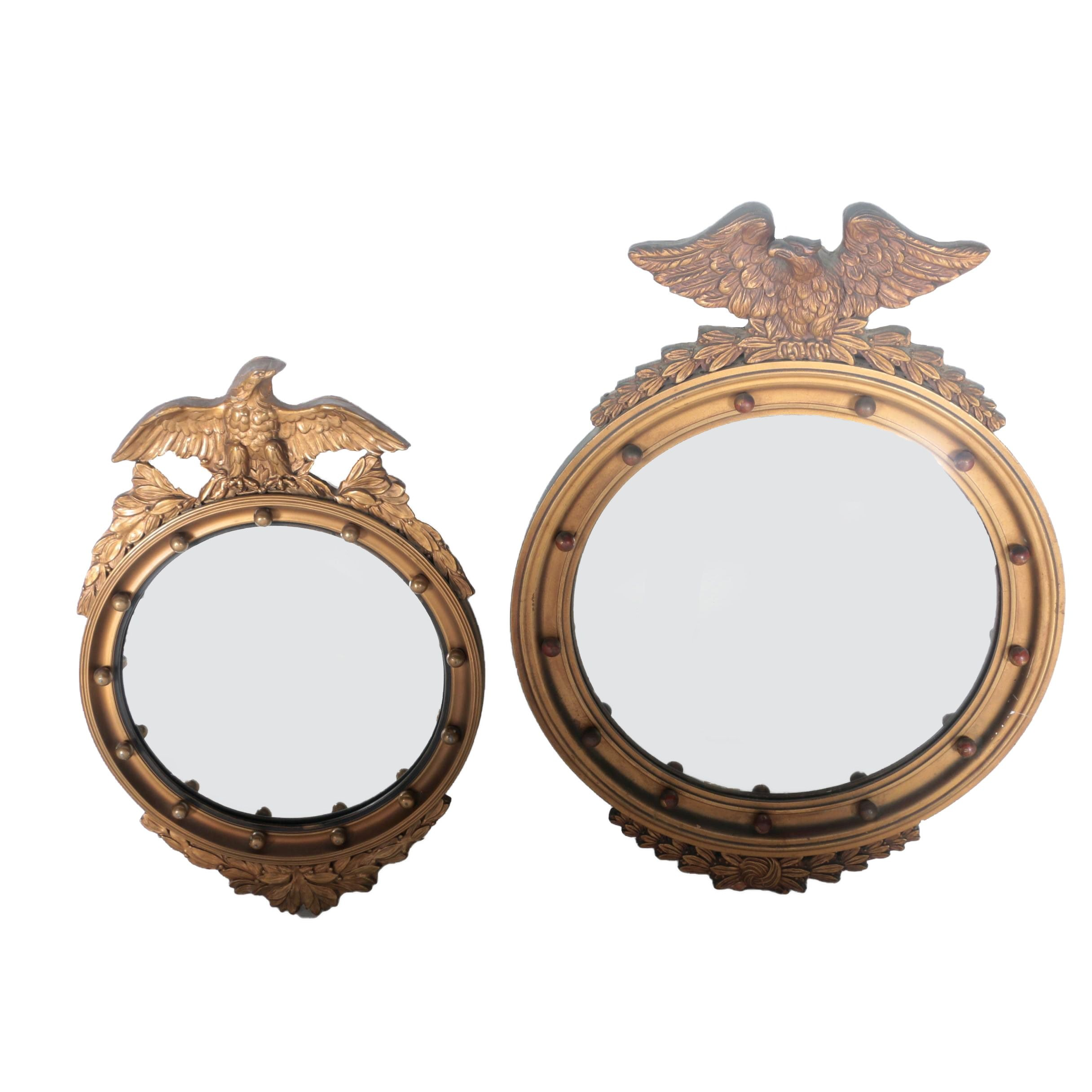Antique Federal Style Convex Mirrors