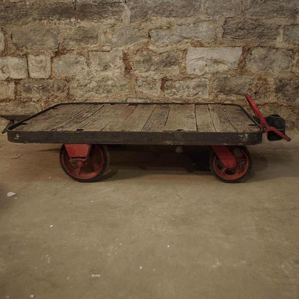 Rustic Industrial Wood and Metal Cart