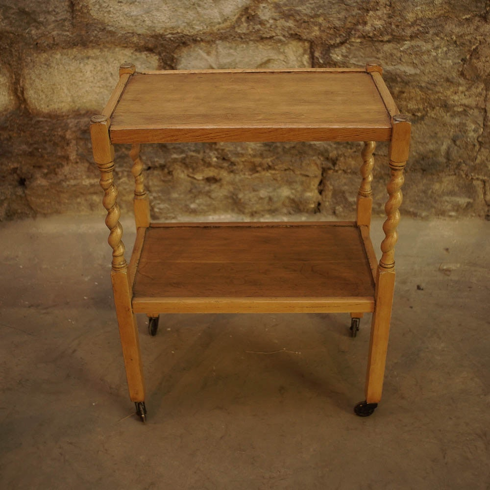 Two Tiered Wooden Side Table