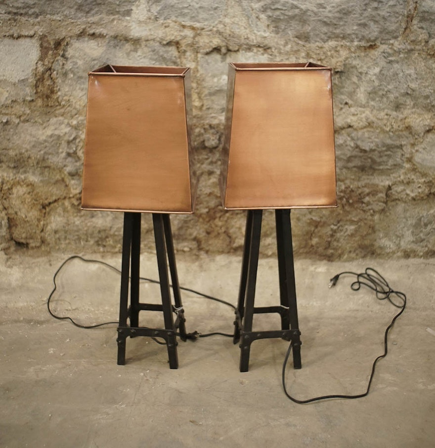 Industrial Style Table Lamps ... - Industrial Style Table Lamps : EBTH