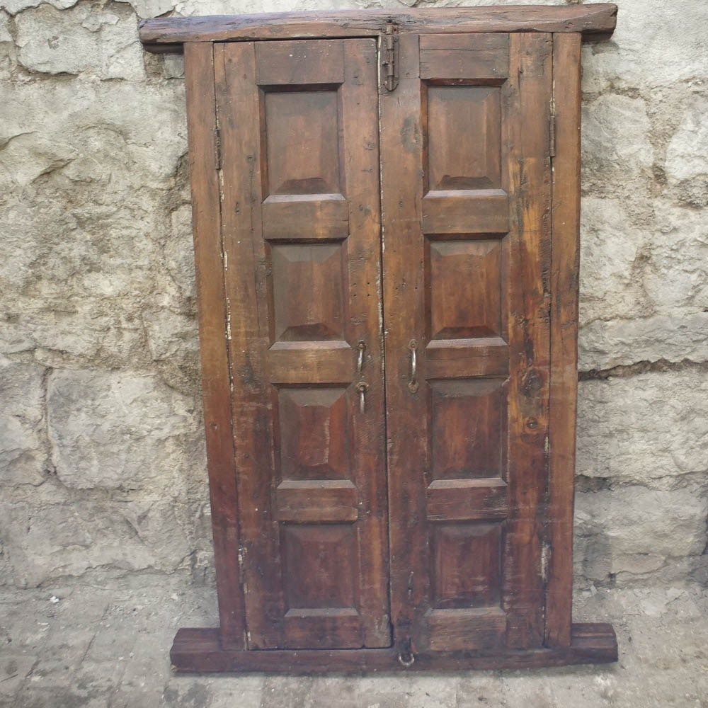 Vintage Salvaged Wooden Shutters And Frame
