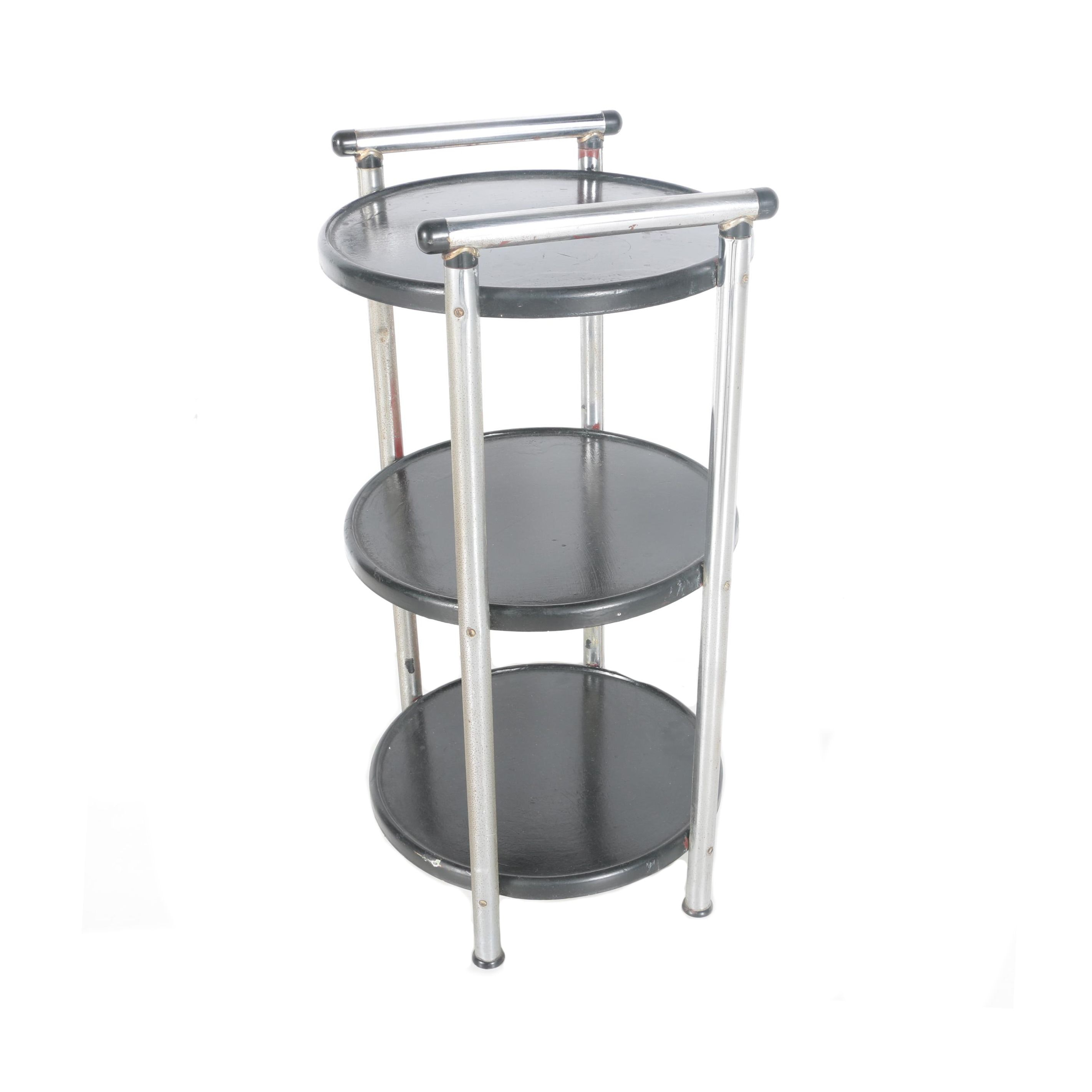Three-Tiered Metal Side Table