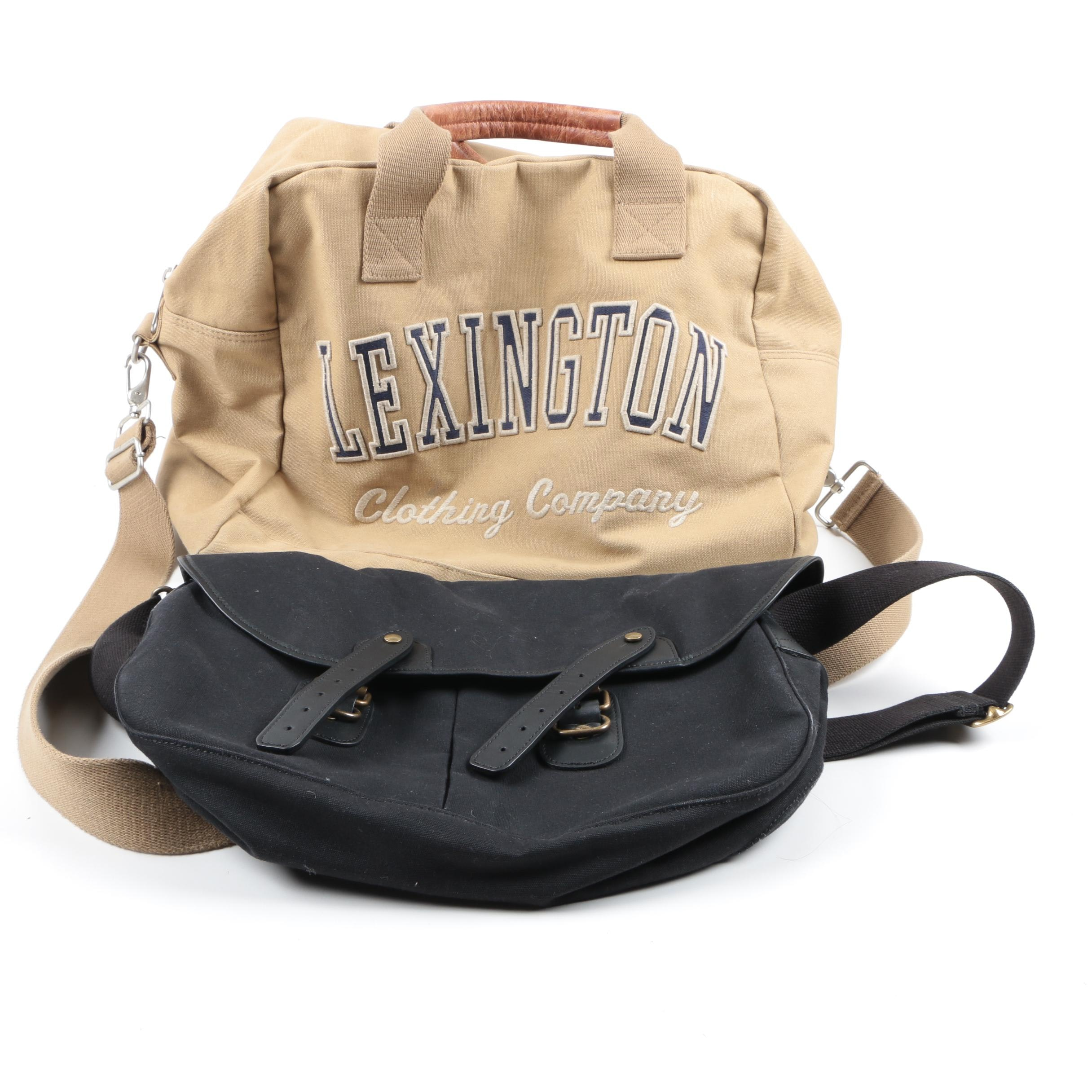 Pair of Canvas Bags Including Upla and Lexington Clothing Company