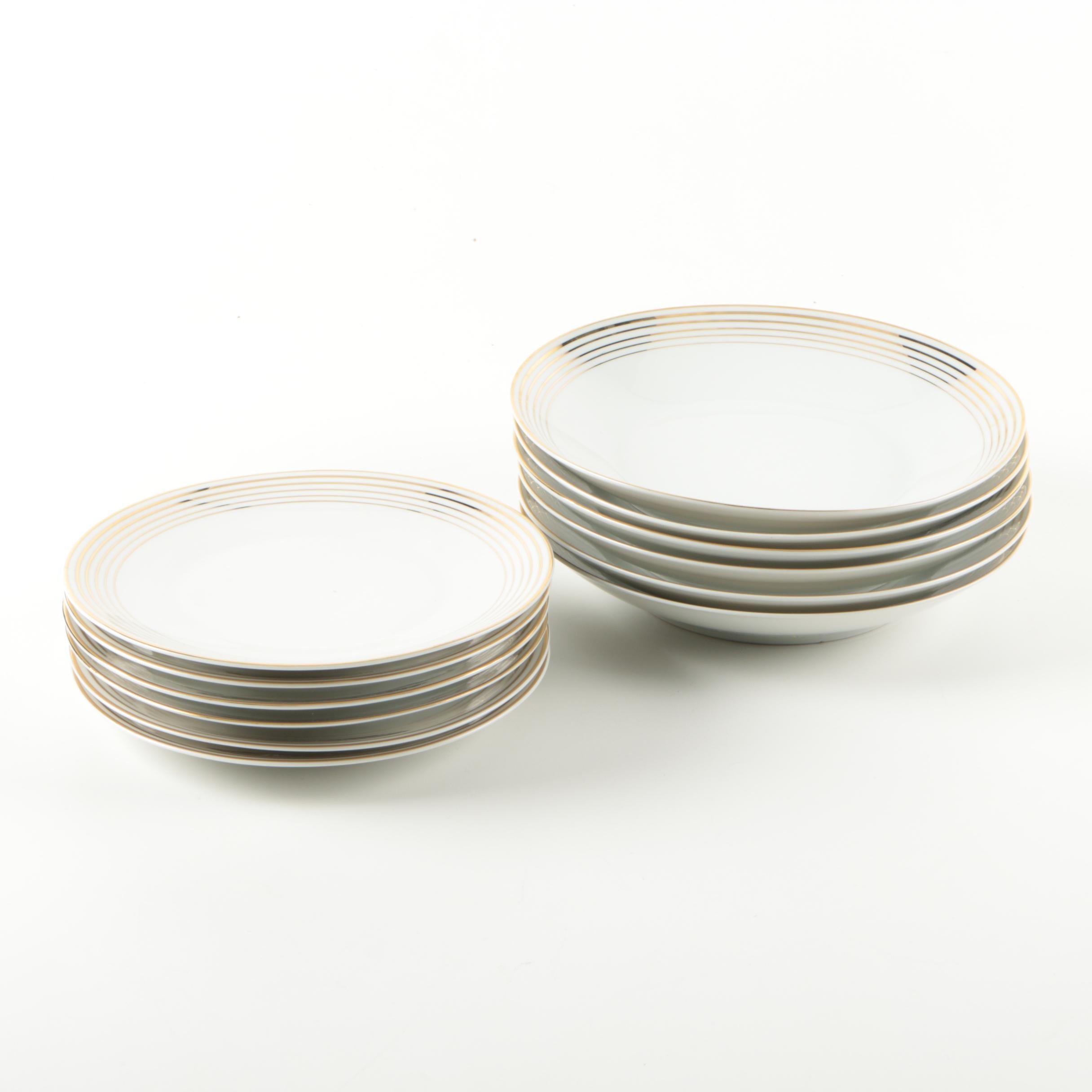 "Plankenhammer Germany ""Floss"" Porcelain Plates and Bowls"