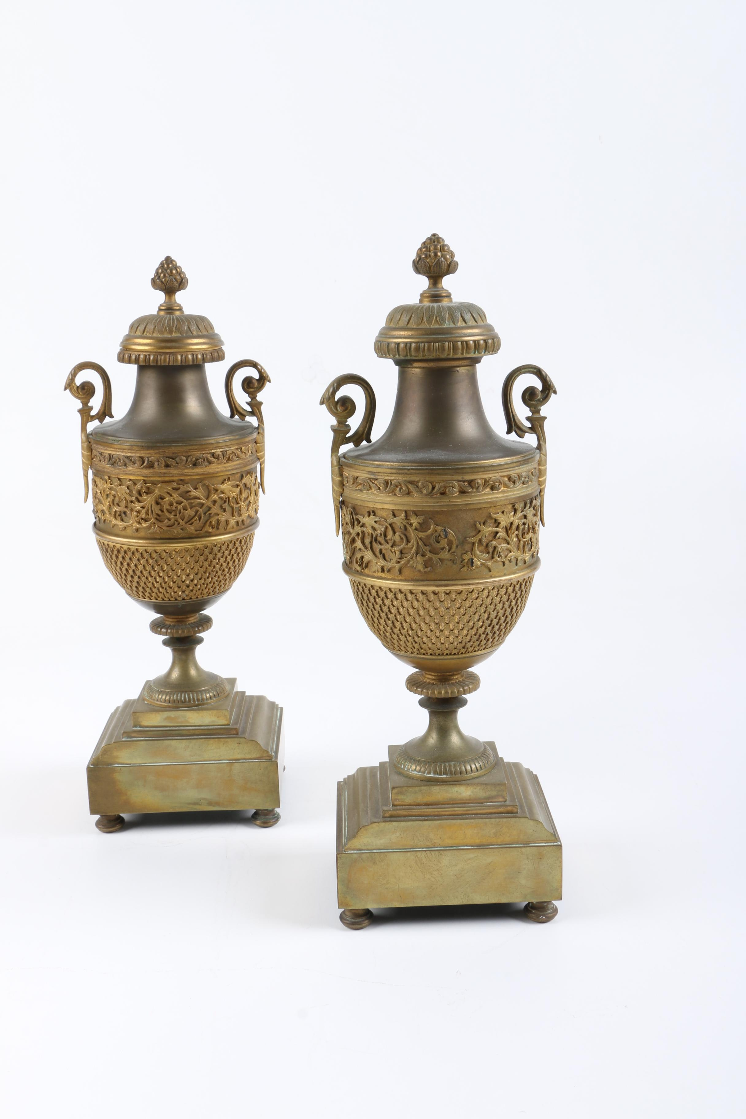 Decorative Brass Urns