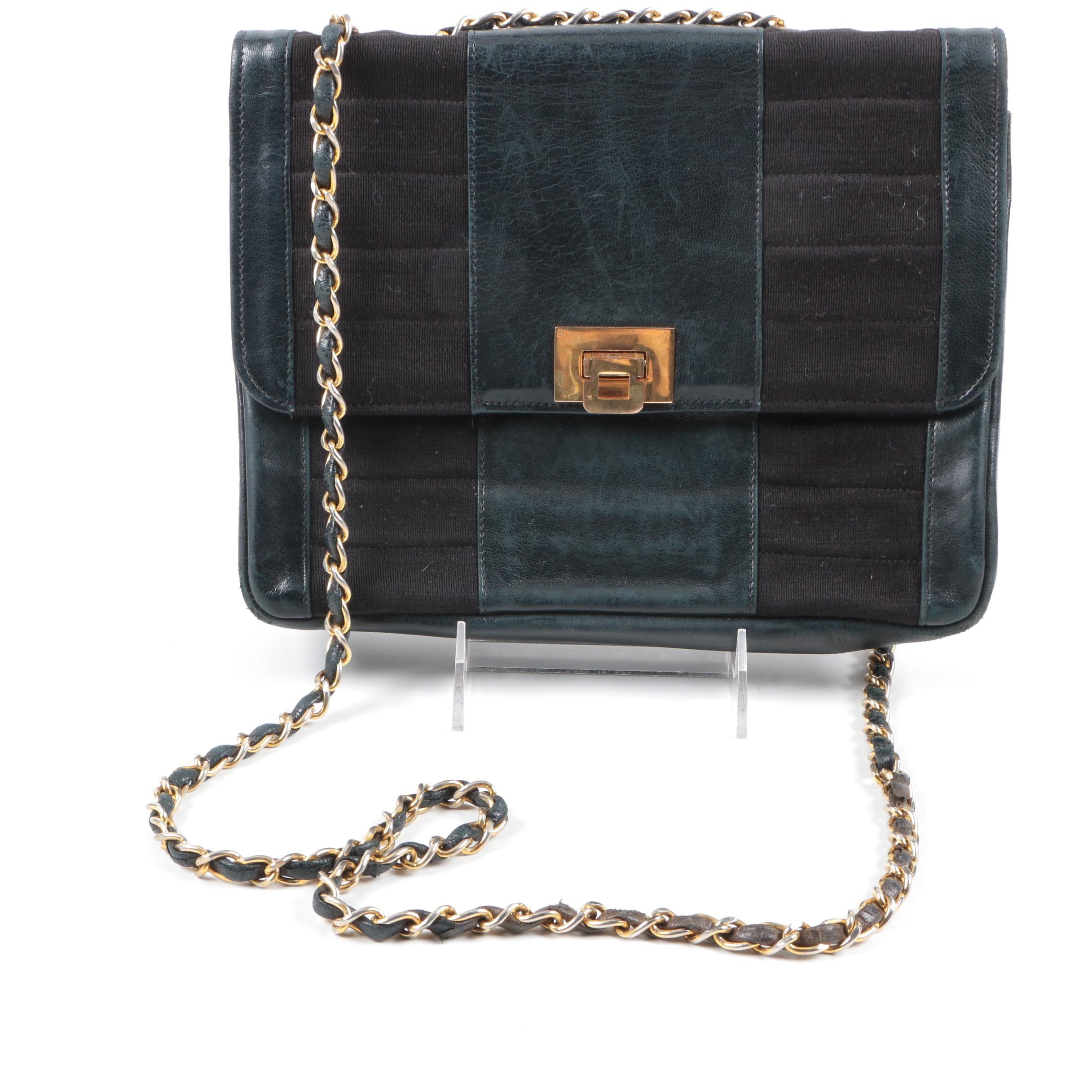 Circa 1980's Chanel Pleated Flap Handbag