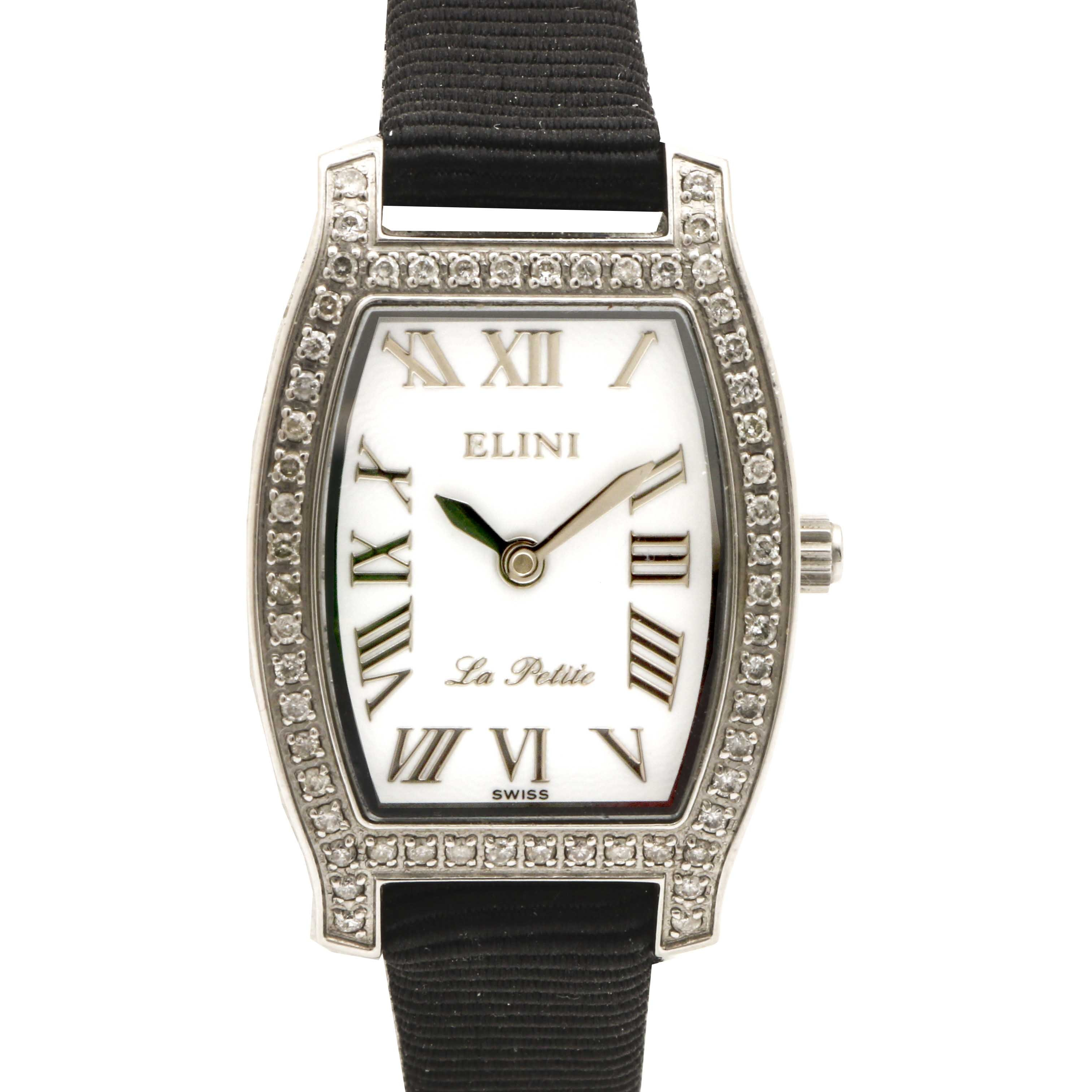 Elini La Petite Diamond Stainless Steel Wristwatch