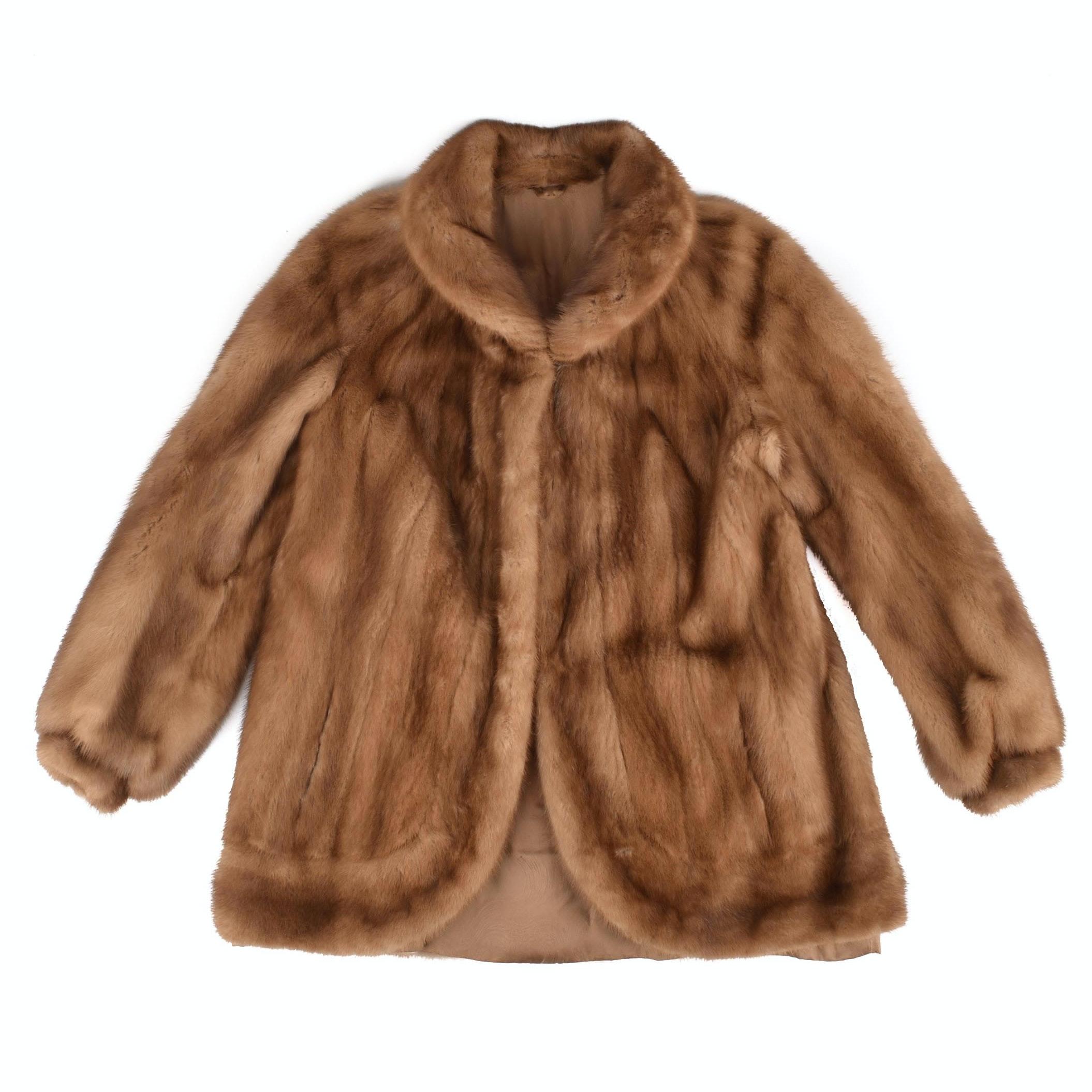 Vintage Pastel Mink Jacket