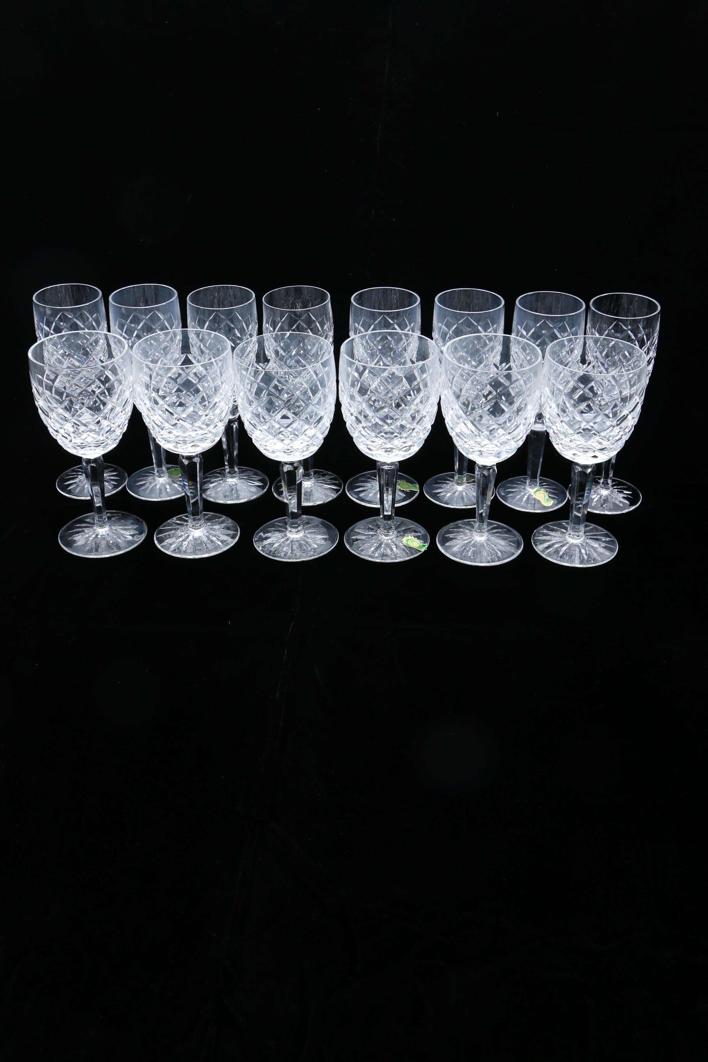 """Collection of Waterford Crystal """"Comeragh"""" Stemware"""