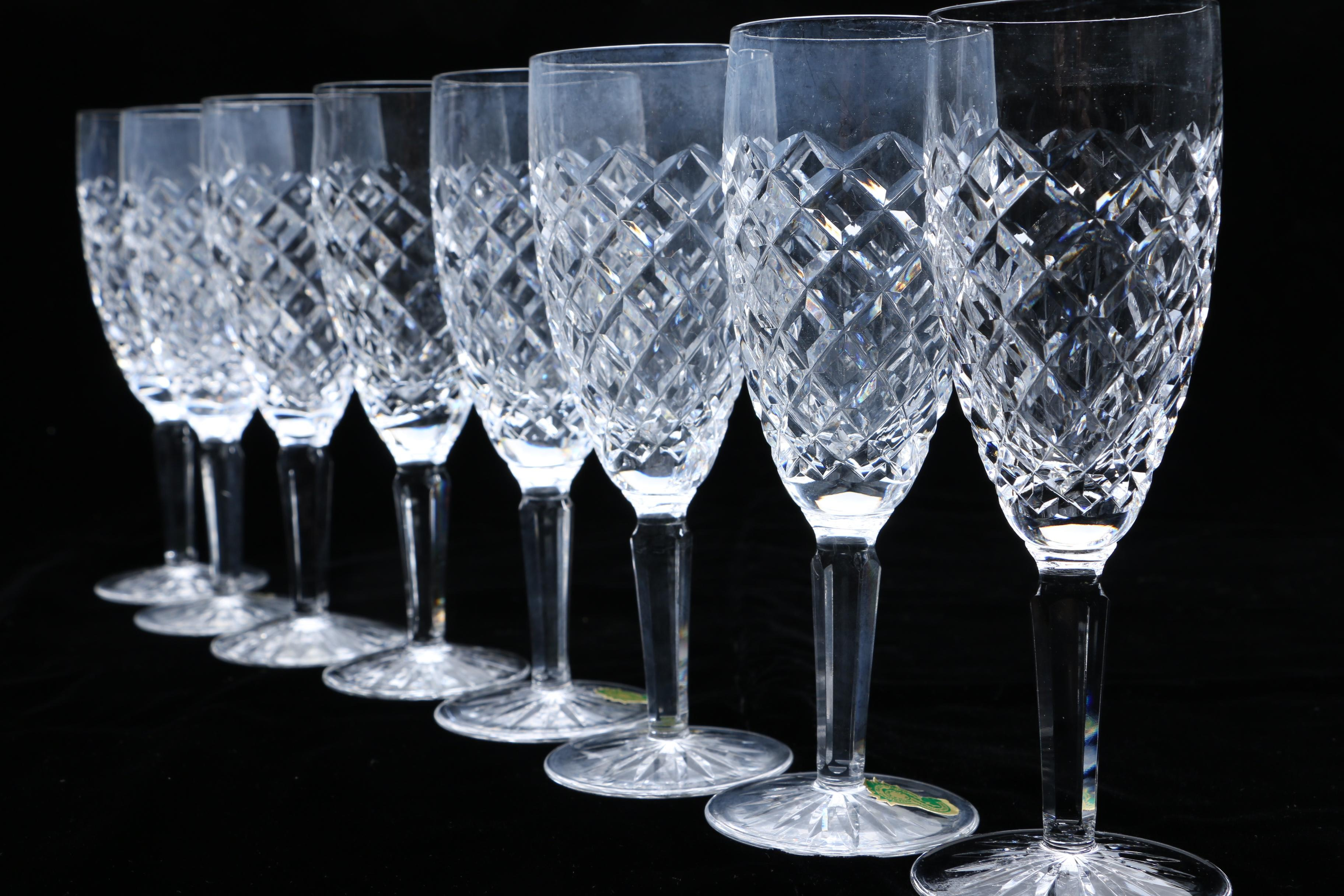Collection Of Waterford Crystal Quot Comeragh Quot Stemware Ebth