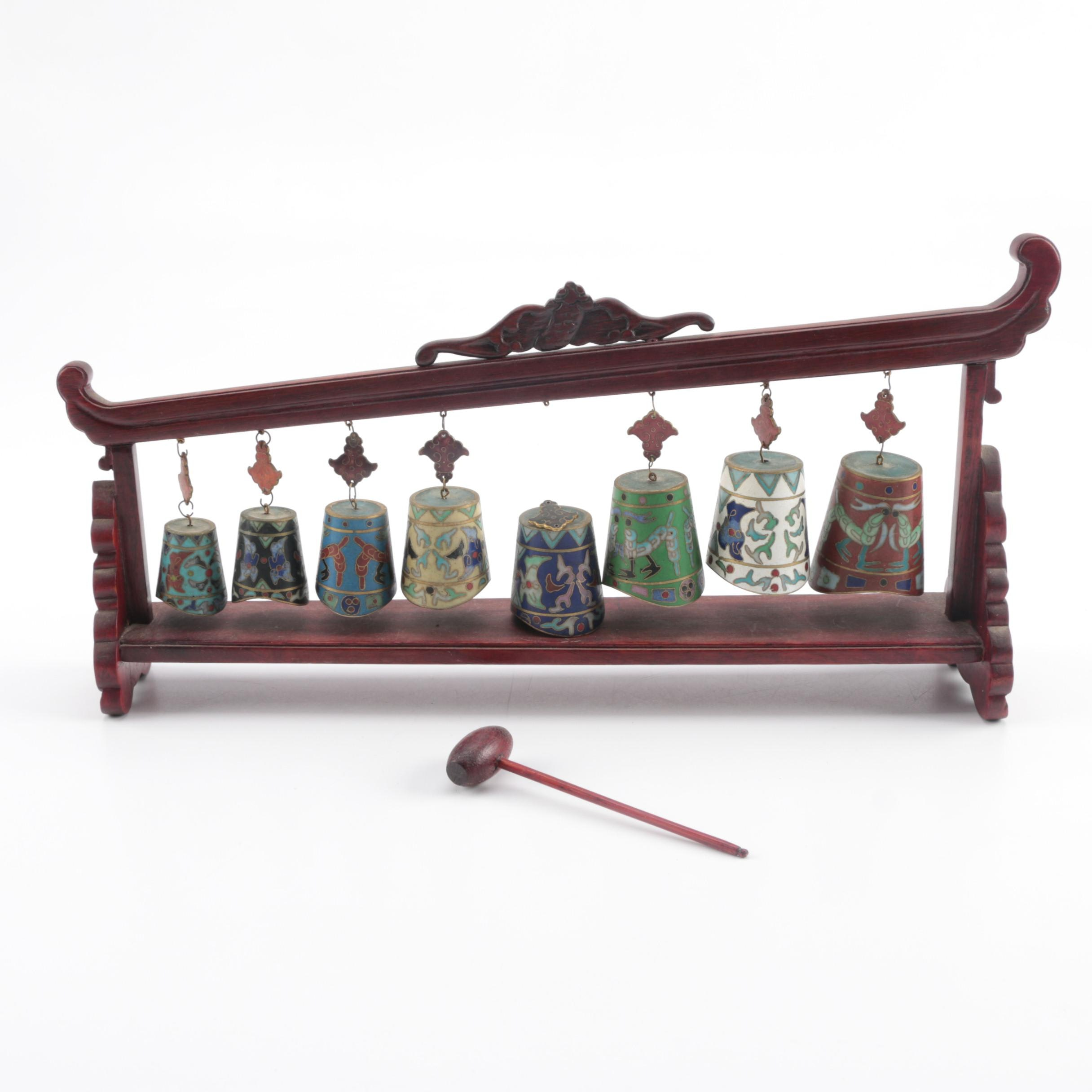 Chinese Cloisonné Bell Chimes