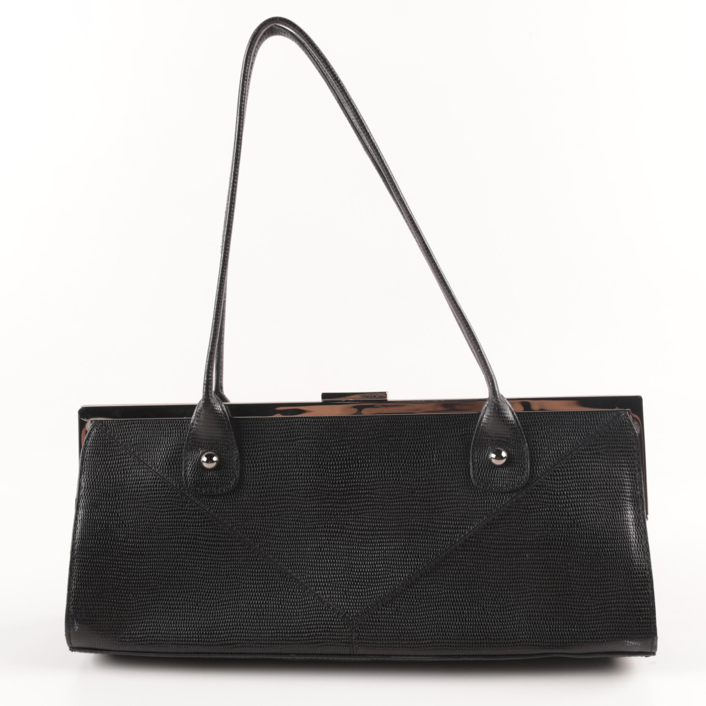 Via Spiga Black Leather Handbag