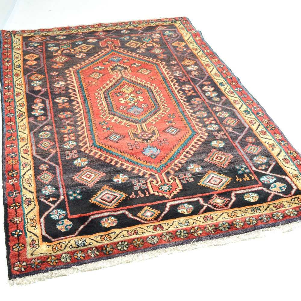4' x 7' Semi-Antique Hand-Knotted Persian Malayer Rug