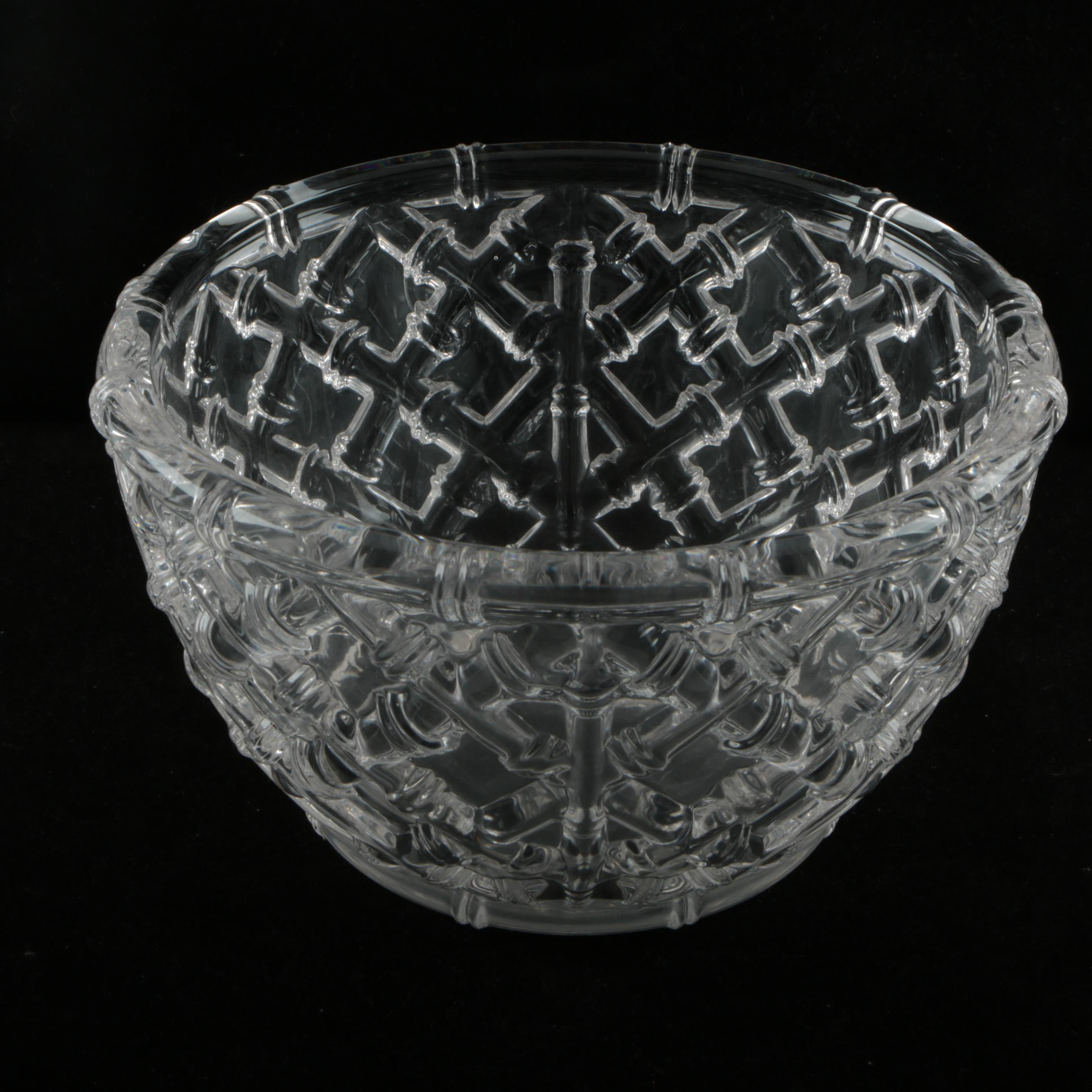 Tiffany & Co. Crystal Bamboo Bowl